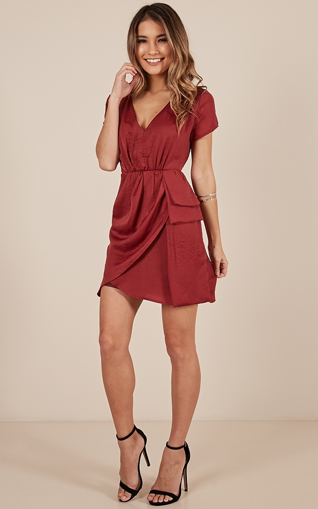 A Girls Best Friend dress in wine - 14 (XL), Wine, hi-res image number null