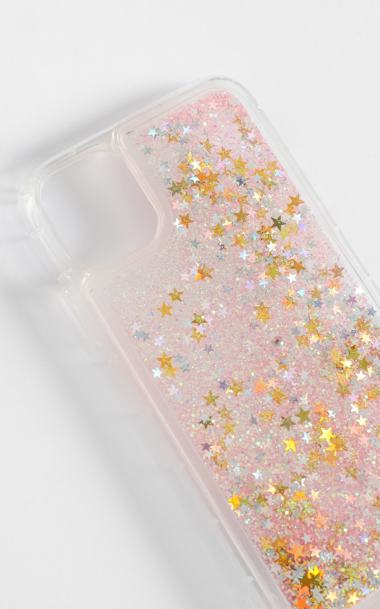 Pink Glitter Phone Case - iPhone XS, Pink, hi-res image number null
