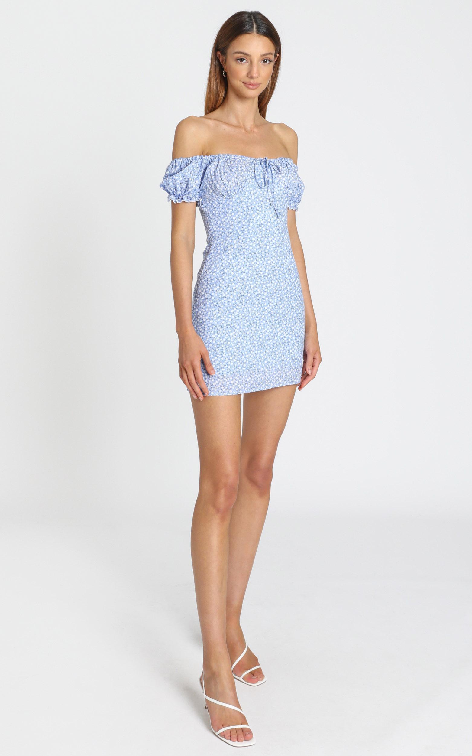 Sinead Dress in blue floral - S, Blue, hi-res image number null