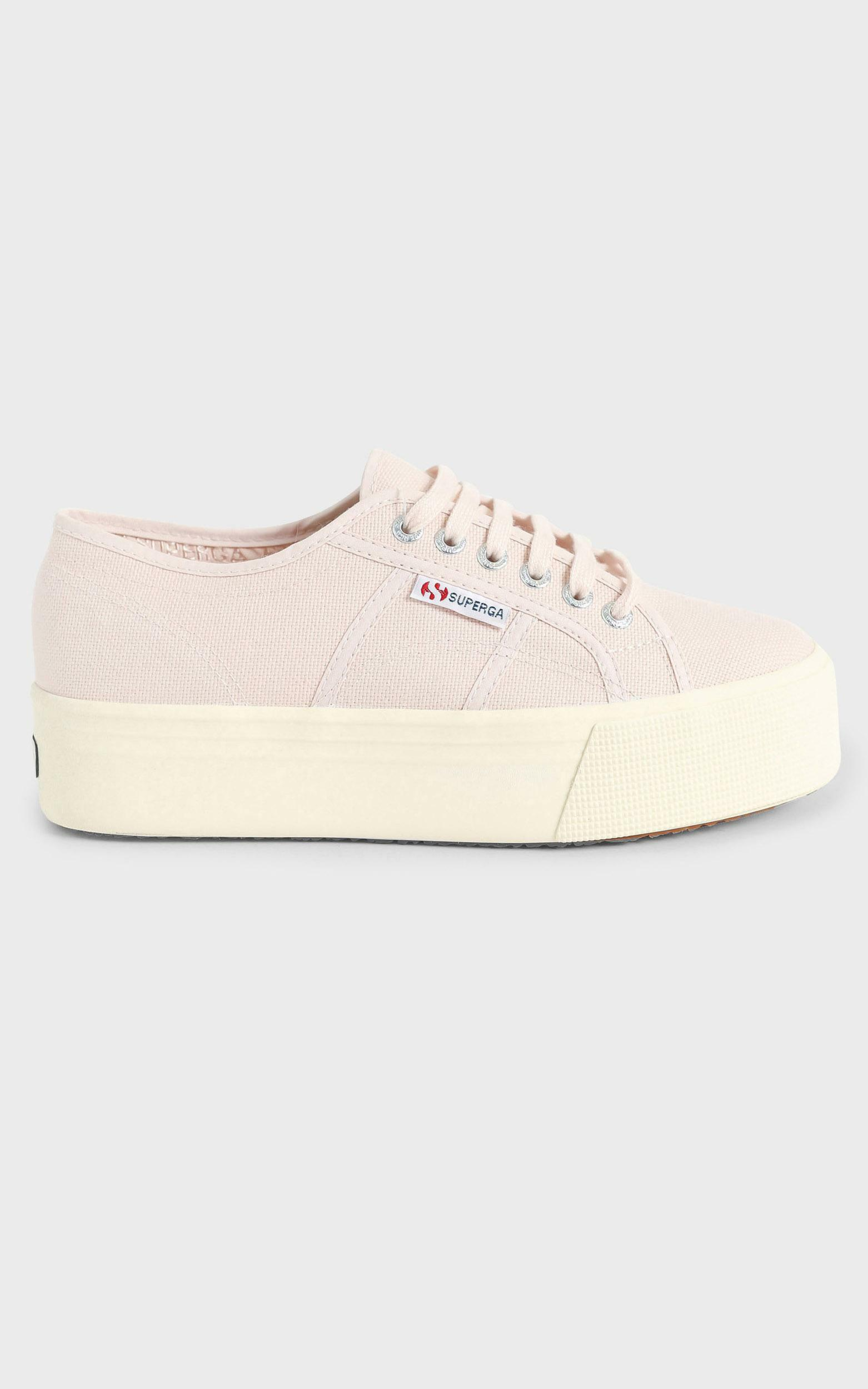 Superga - 2790 ACOTW Linea Up and Down Platform Sneaker in pink peach blush - off white - 5, Beige, hi-res image number null