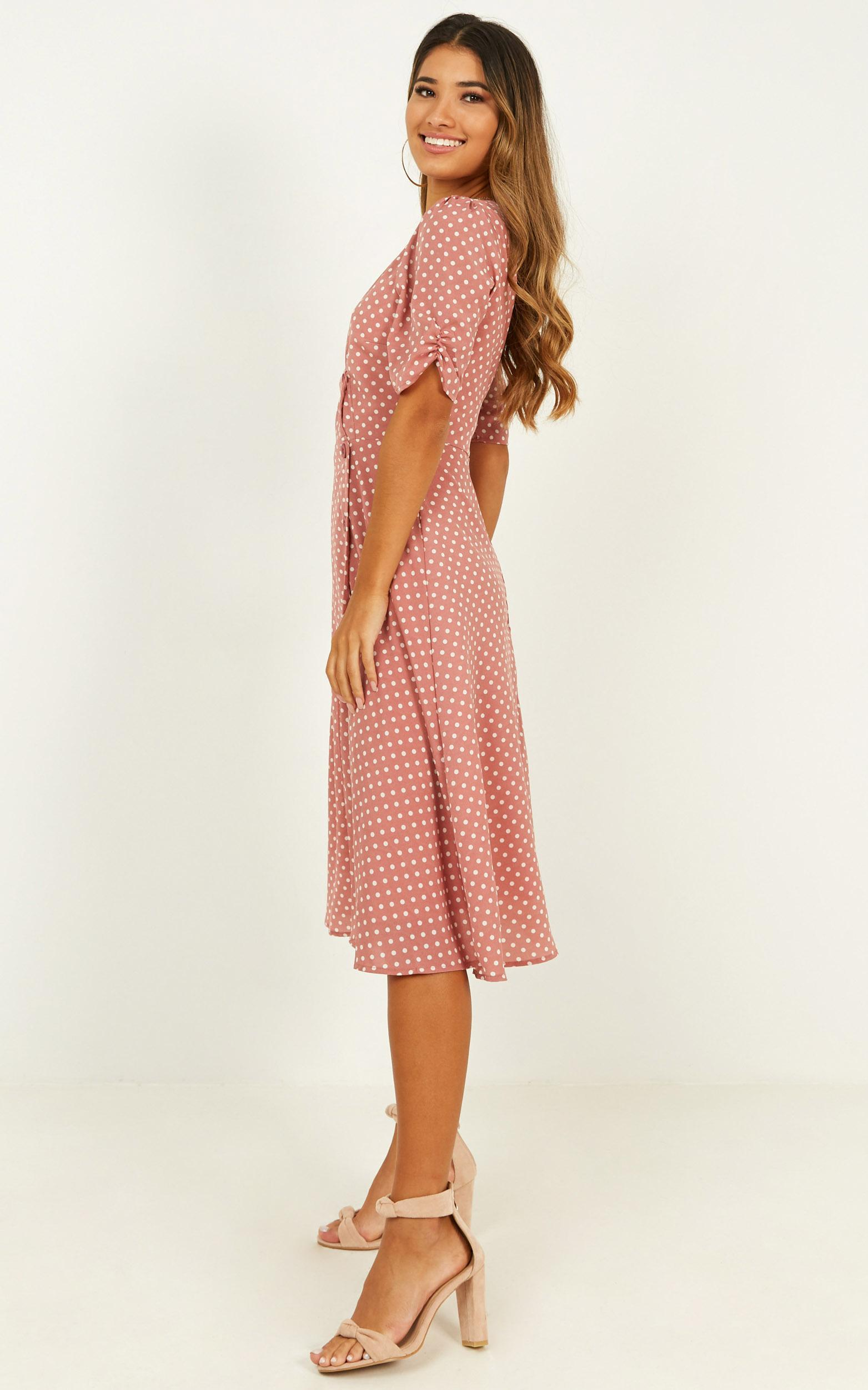 Yesterdays Story Dress in blush spot, Blush, hi-res image number null