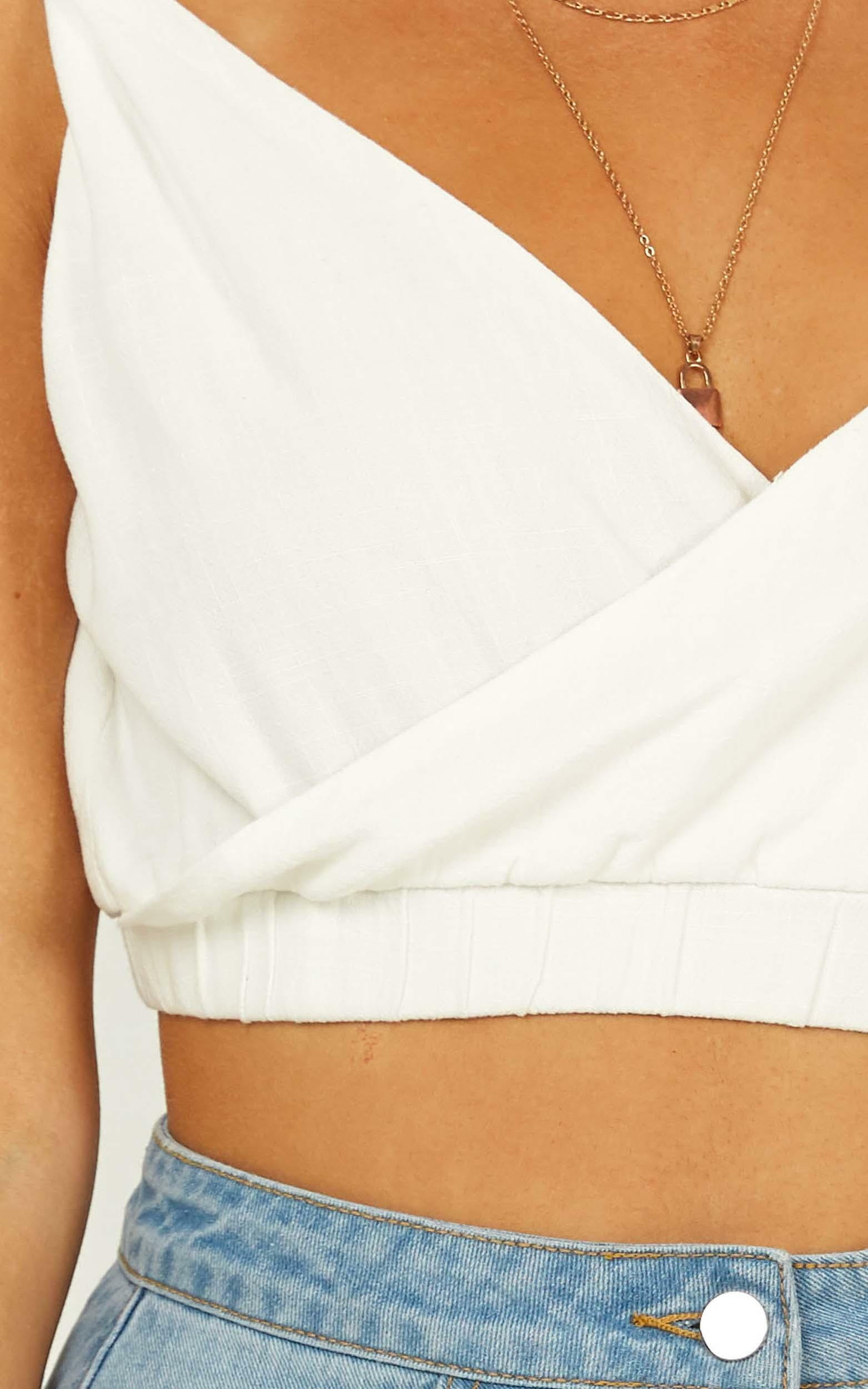 As It Seems Top in white linen look - 14 (XL), White, hi-res image number null