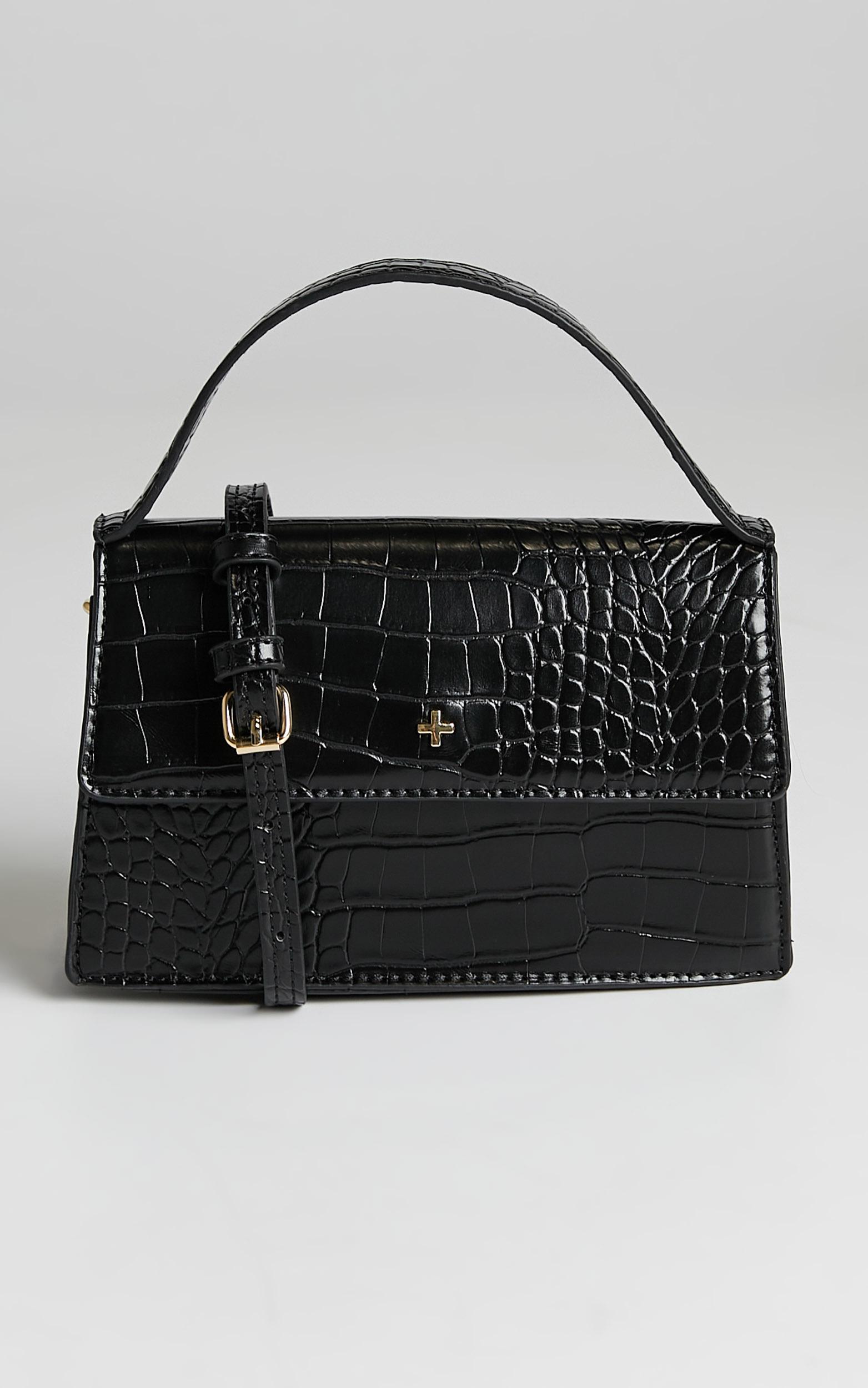 Peta And Jain - Alys Bag in Black Croc - OneSize, BLK1, hi-res image number null