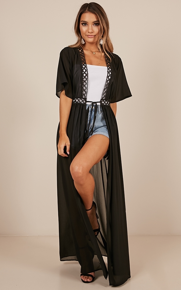 If You Leave Kimono in black - 20 (XXXXL), Black, hi-res image number null