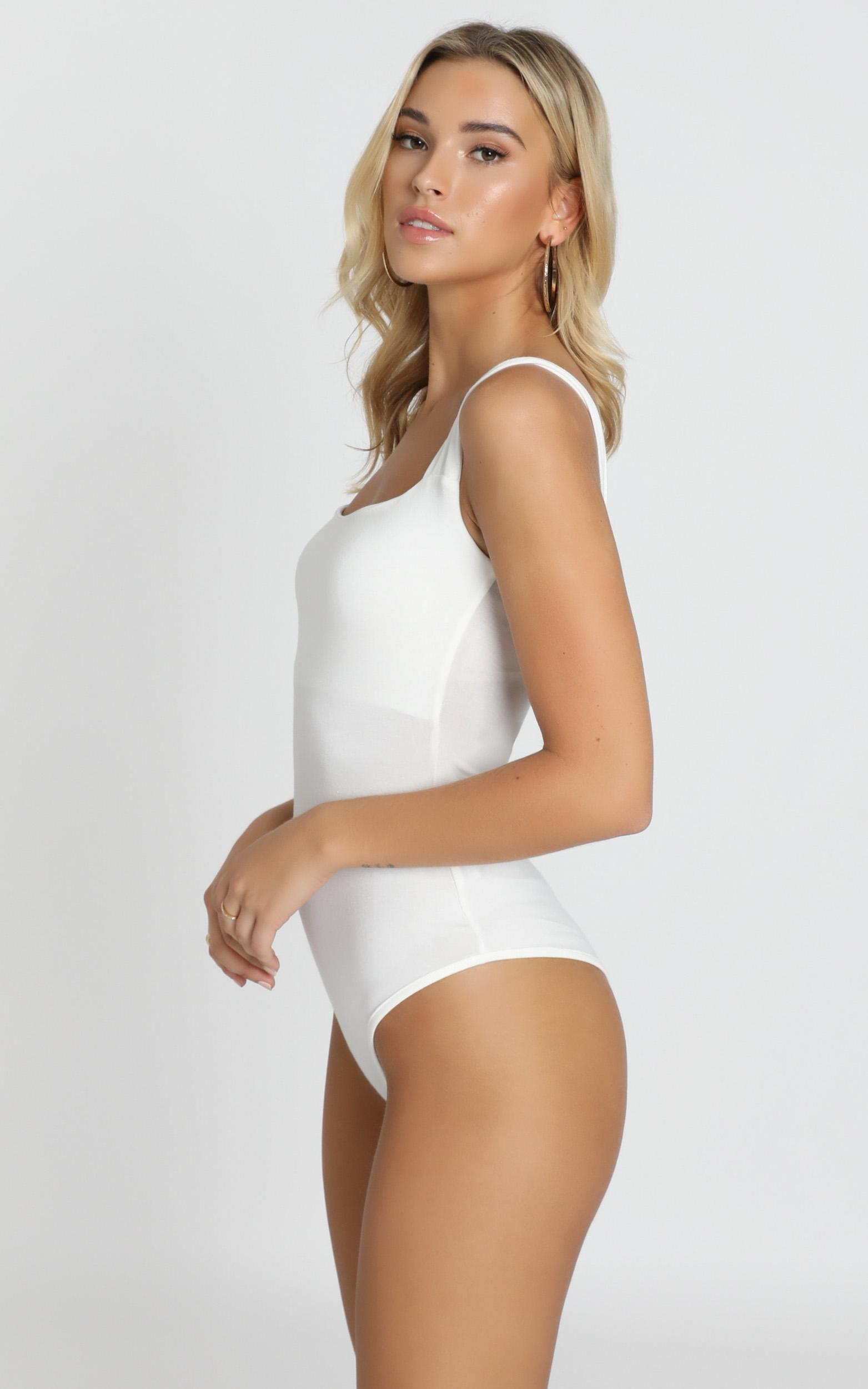 Off My Back Bodysuit in white - 20 (XXXXL), White, hi-res image number null