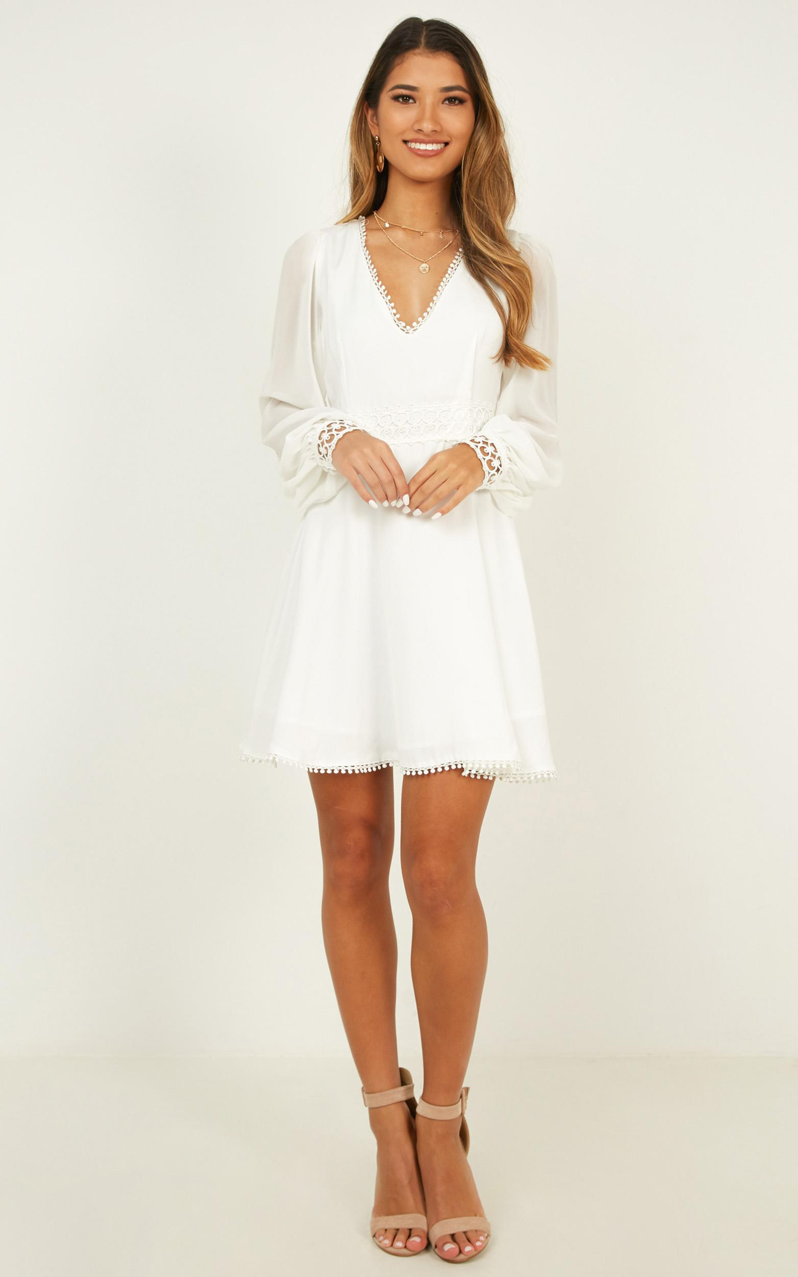 Hollywood Gal Dress in white - 20 (XXXXL), White, hi-res image number null