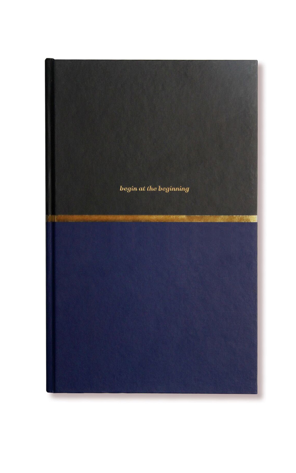 Alice Pleasance - At The Beginning notebook in navy and gold, Gold, hi-res image number null