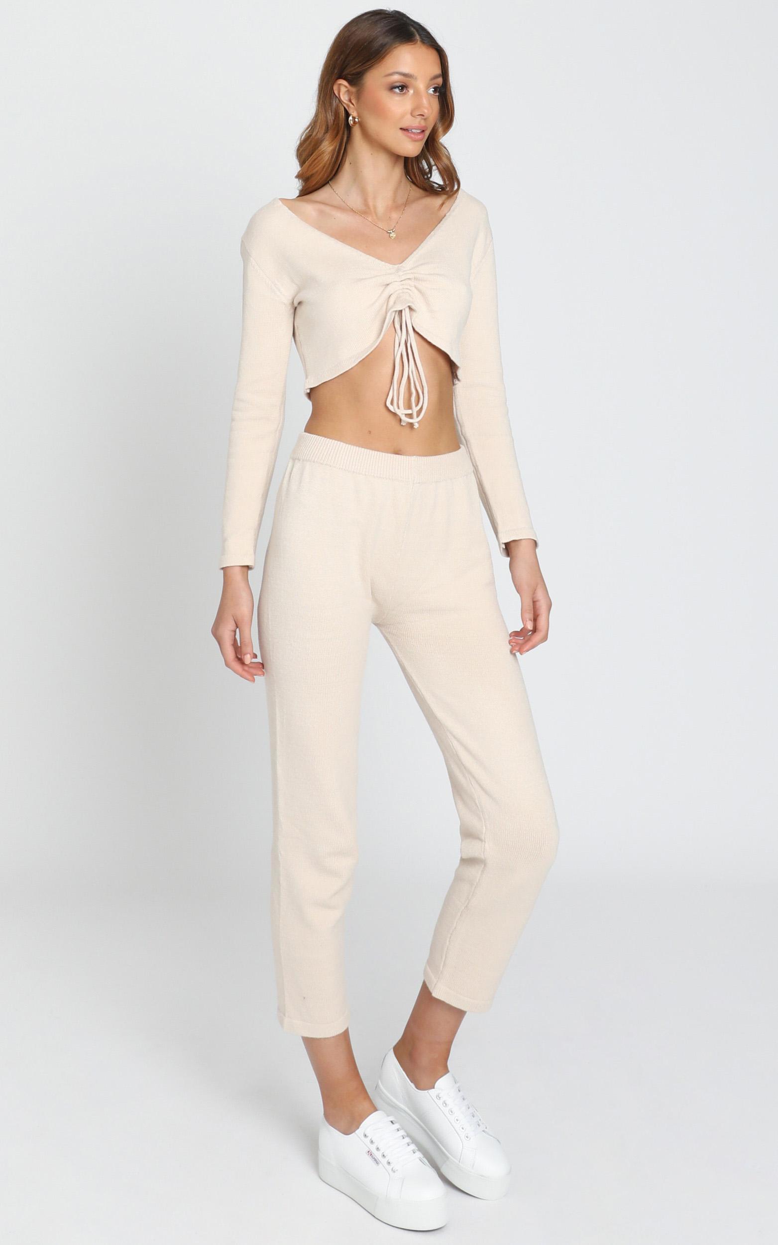 Neutral Hues Knit Pants in  Beige - S/M, Beige, hi-res image number null