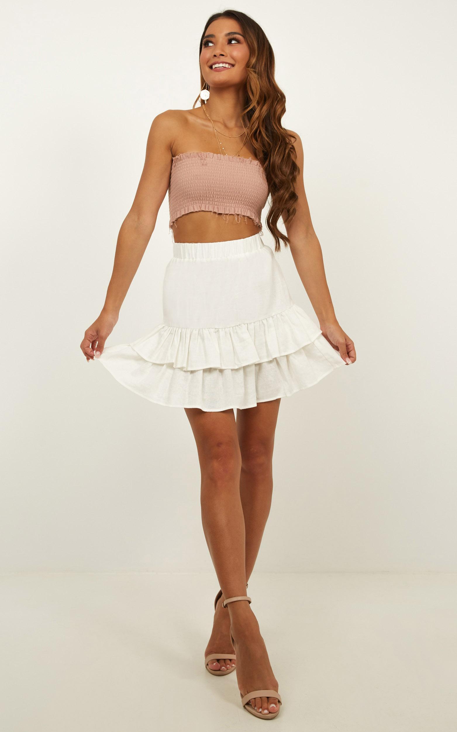 Spiteful Mission Skirt in white - 20 (XXXXL), White, hi-res image number null