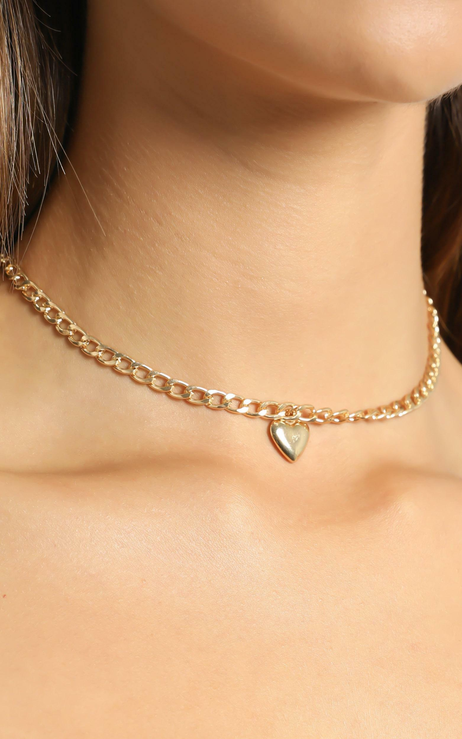 Micaela Necklace in Gold, Gold, hi-res image number null