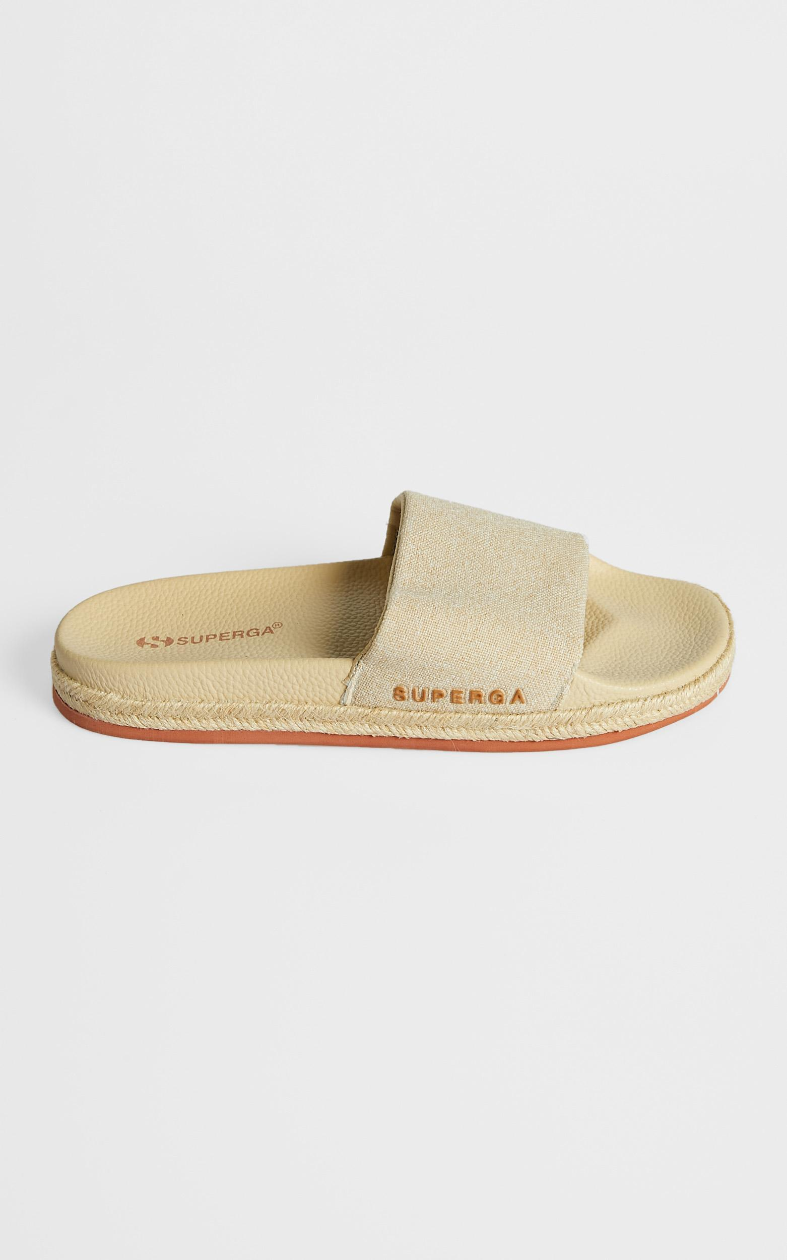 Superga - 1908 Rope Linen Slides in Taupe - 5, Taupe, hi-res image number null
