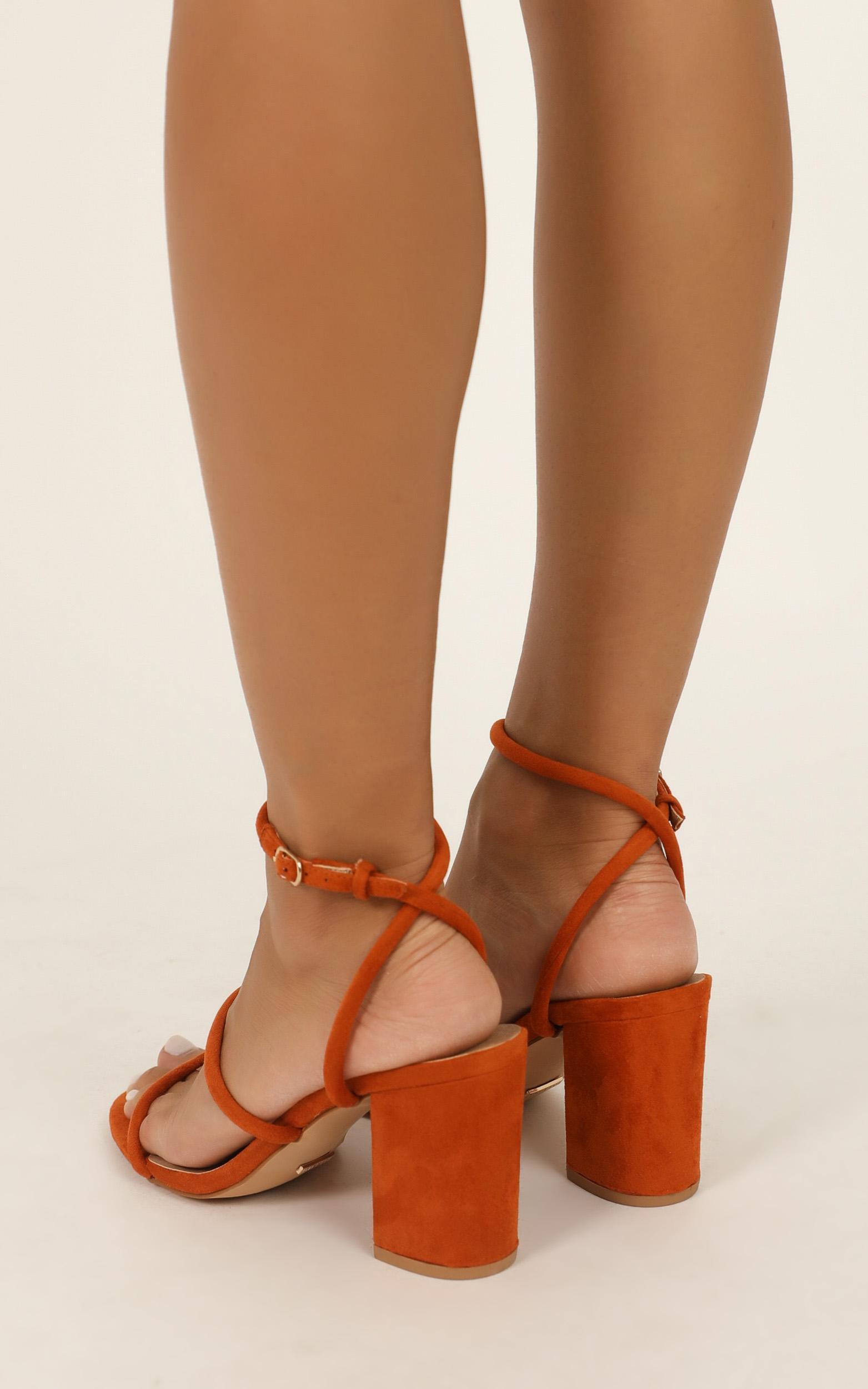 Billini - Ember heels in burnt ochre micro - 10, Red, hi-res image number null
