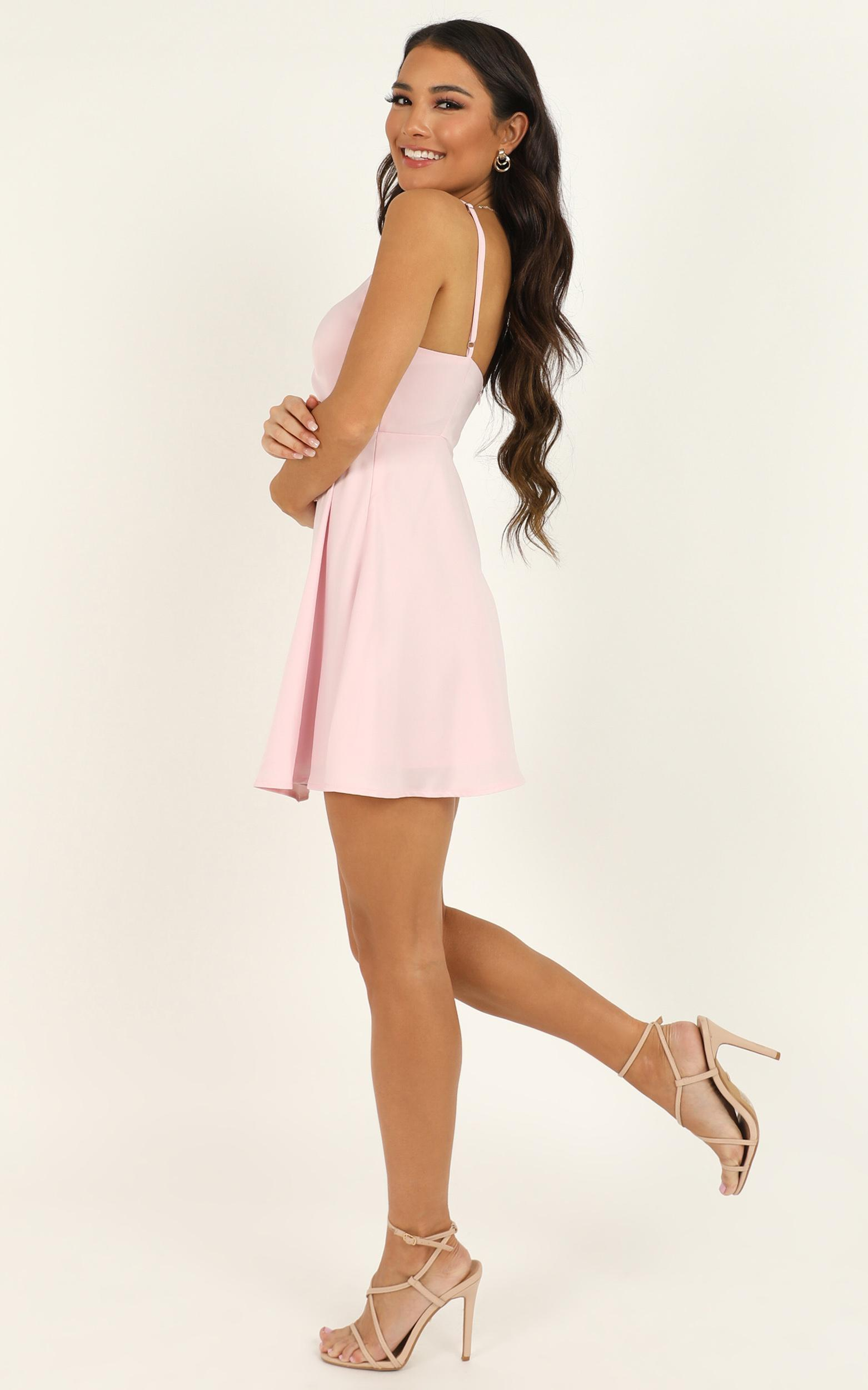 Hold You in My Palm Dress in baby pink satin - 20 (XXXXL), Pink, hi-res image number null