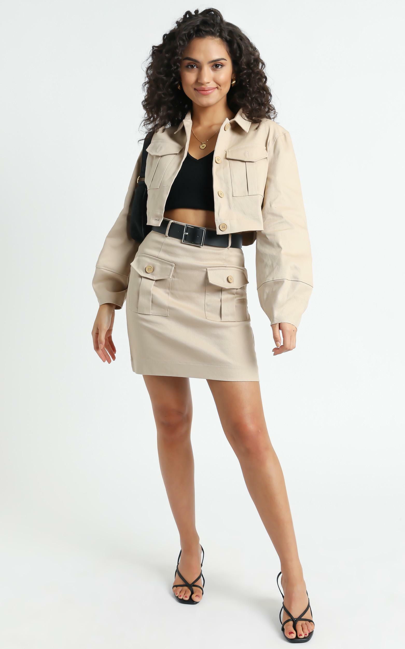 Armaras Skirt in Beige - 6 (XS), Beige, hi-res image number null