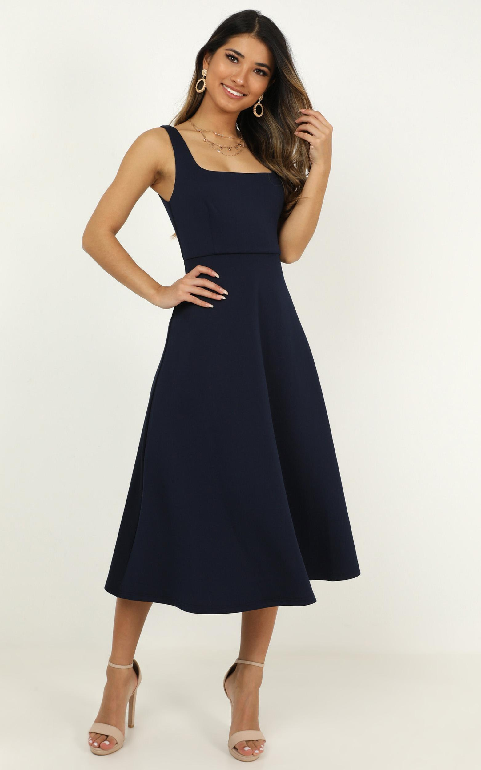 When I love Dress in navy - 14 (XL), Navy, hi-res image number null