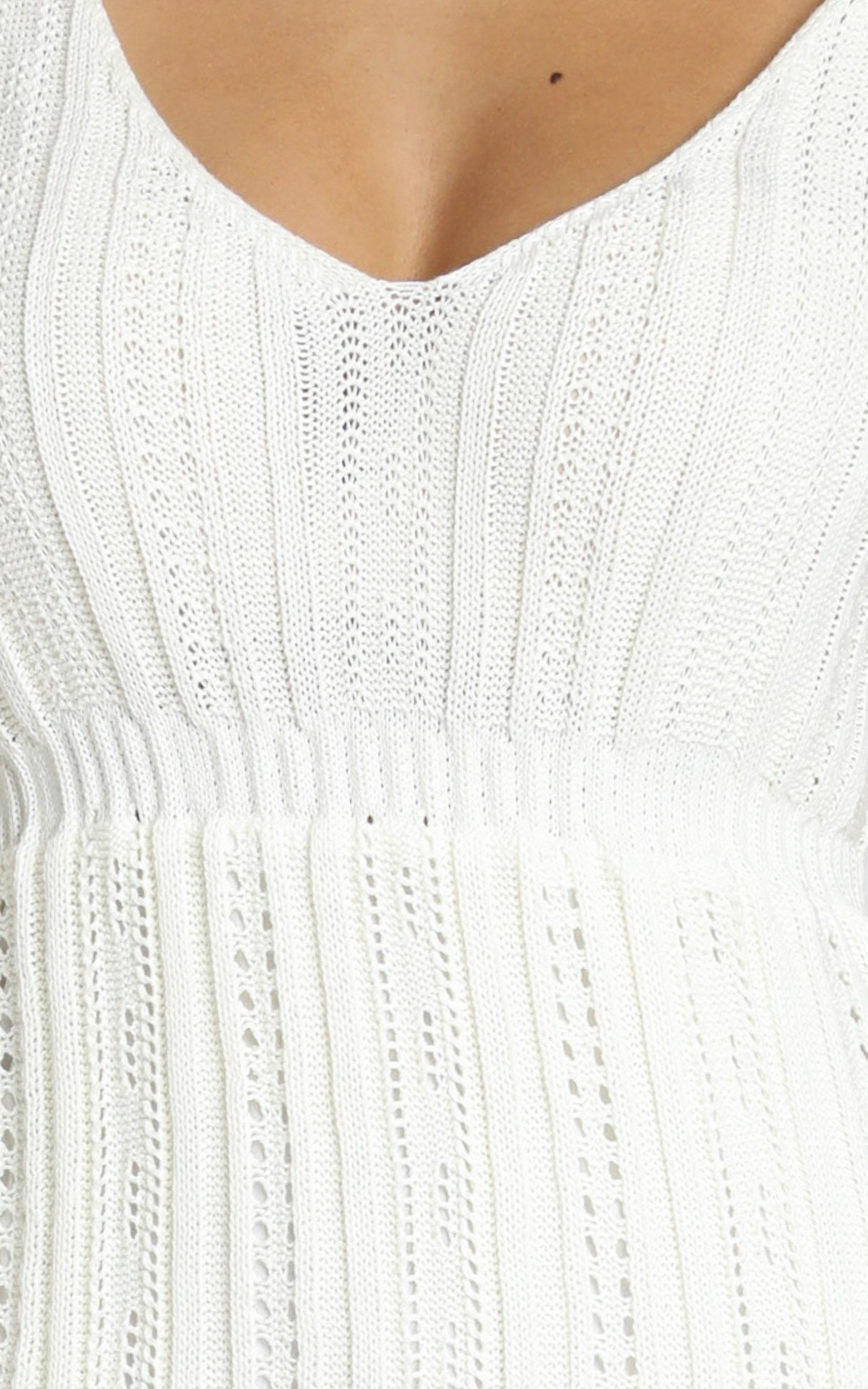 Feel The Waves dress in cream crochet - 16 (XXL), Cream, hi-res image number null