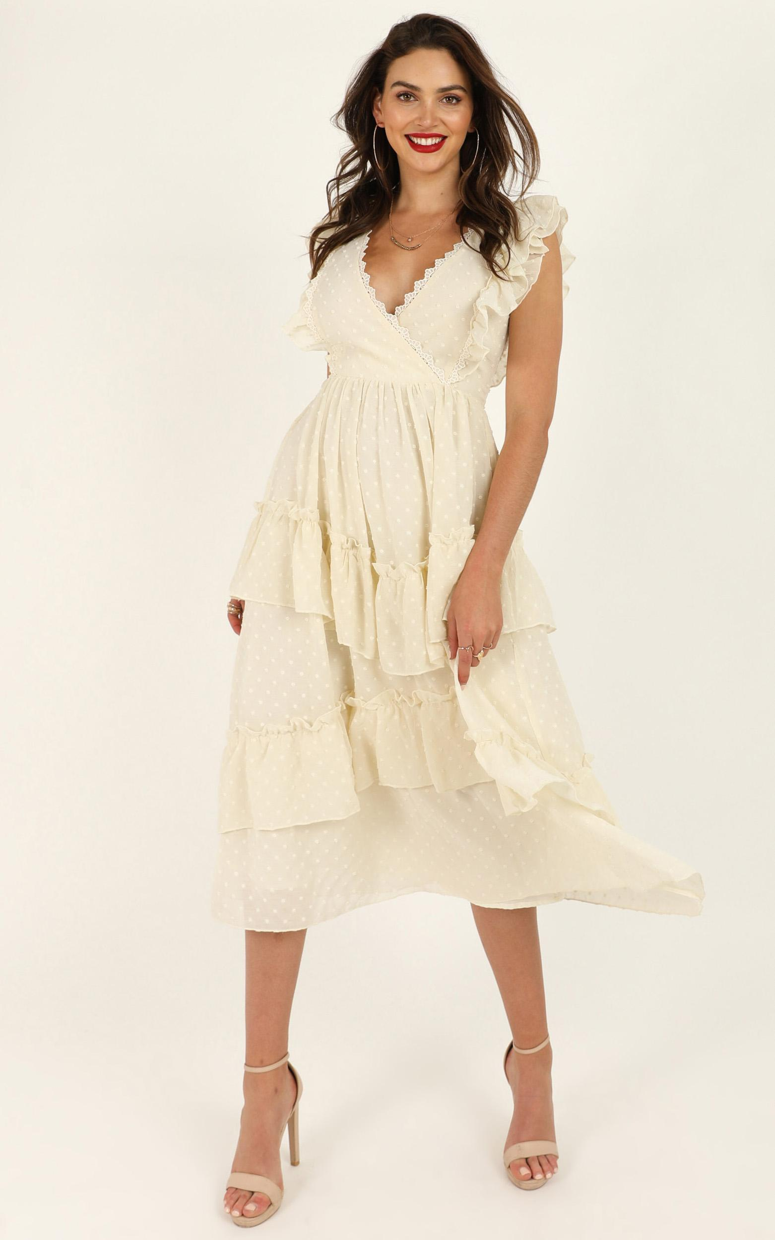 Brighter Flame dress in cream - 12 (L), Cream, hi-res image number null