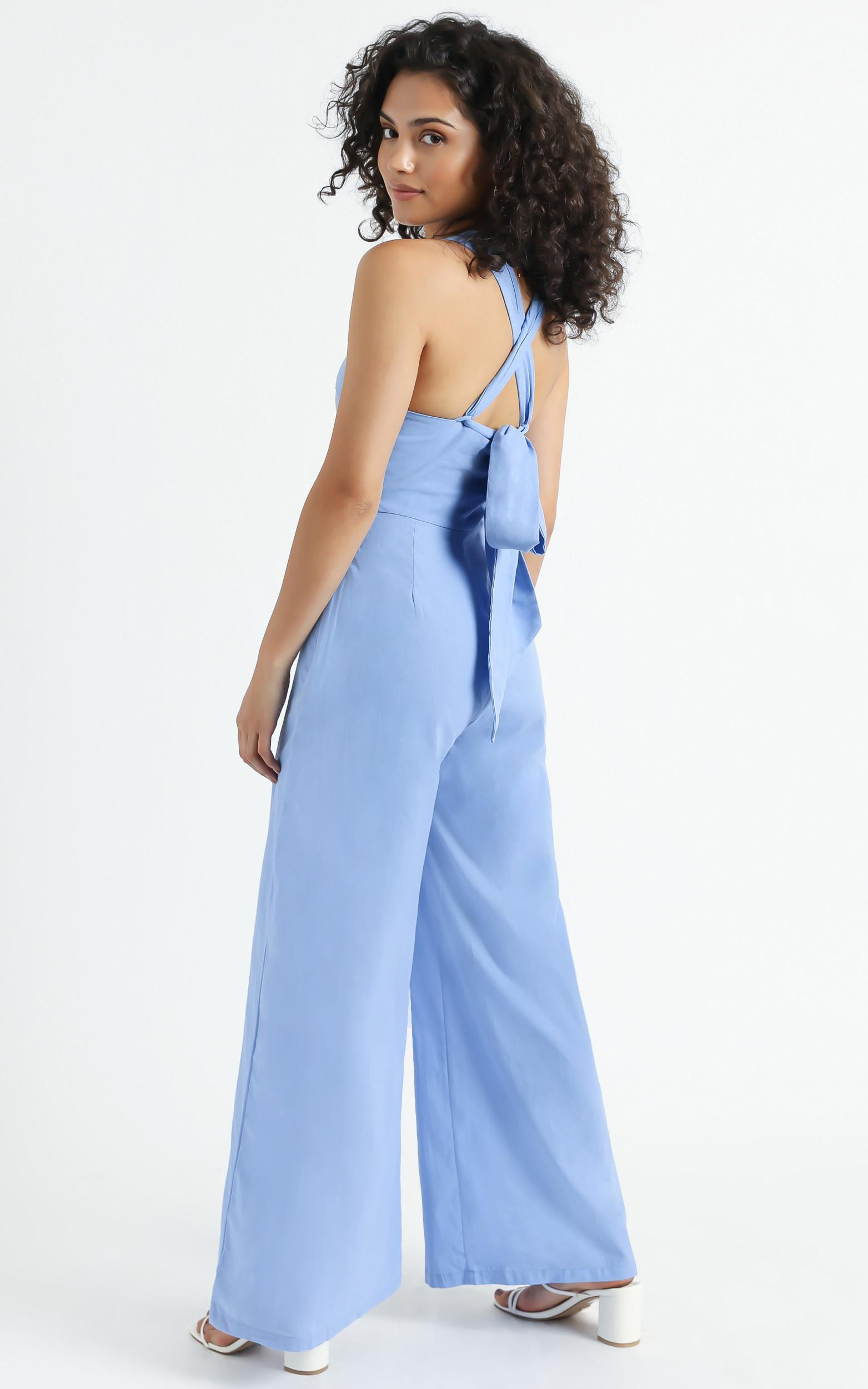 Vous Jumpsuit in Blue - 6 (XS), Blue, hi-res image number null