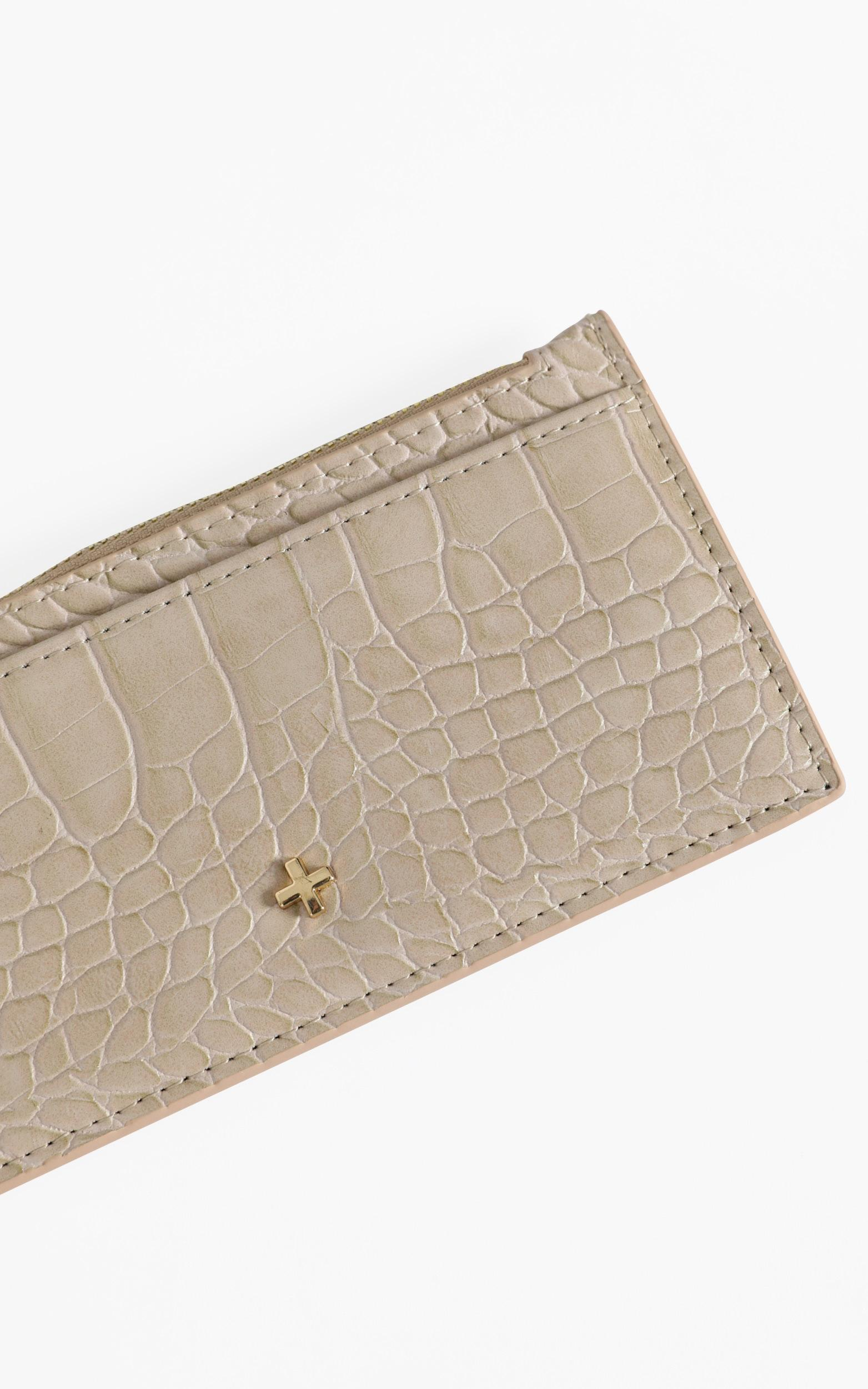 Peta and Jain - Marley Card Holder in Nude Croc, , hi-res image number null