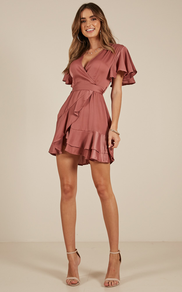 Thin Ice dress in rose sateen - 14 (XL), Pink, hi-res image number null