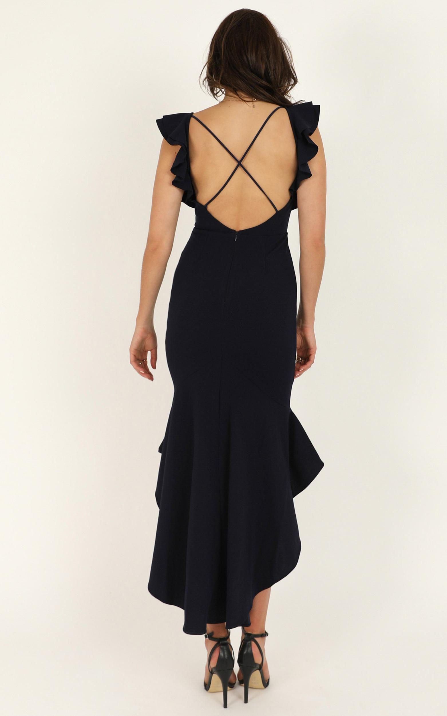 Off Timing dress in navy - 12 (L), Navy, hi-res image number null