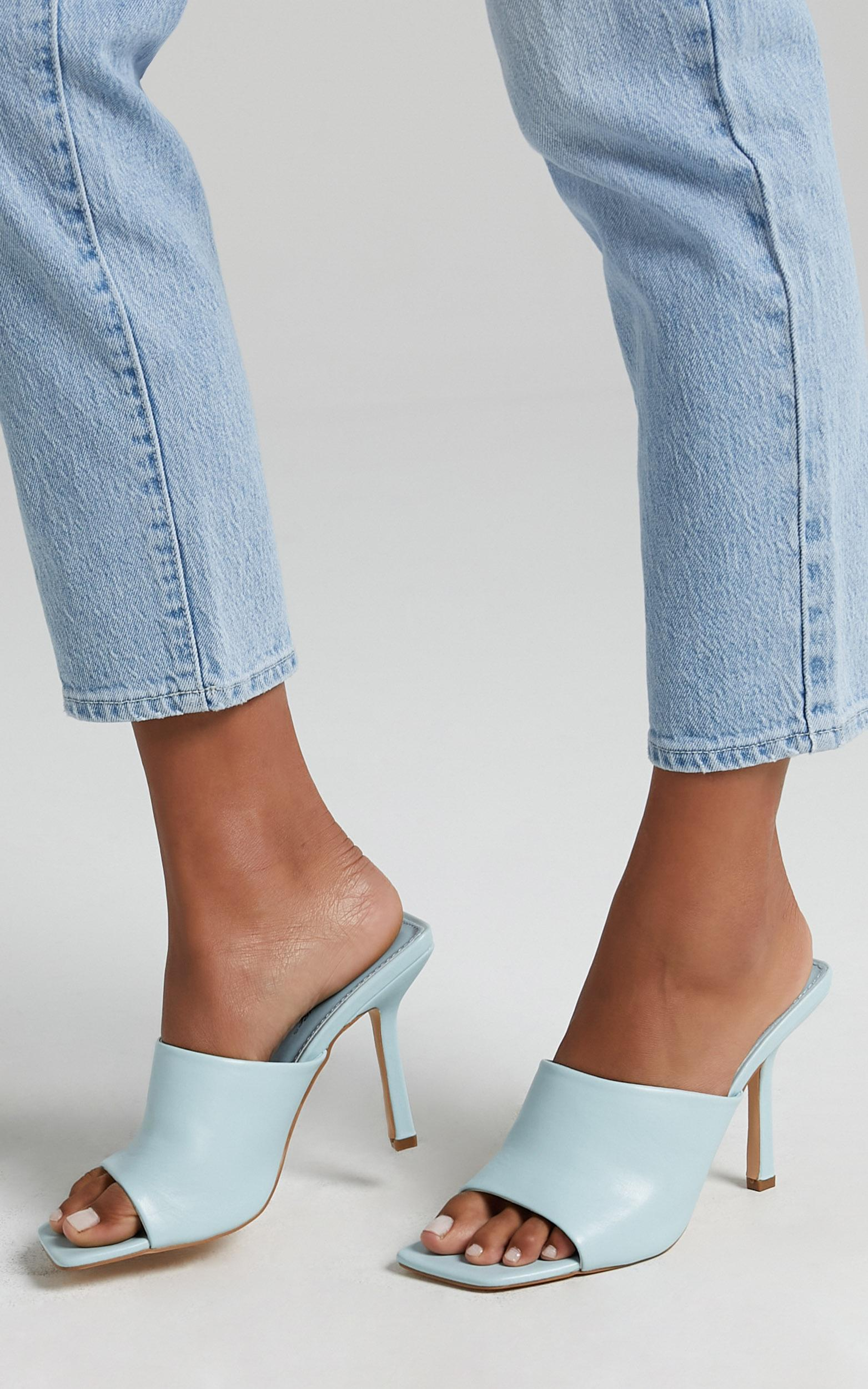 Public Desire - Zavia Heels in Blue PU - 5, Blue, hi-res image number null