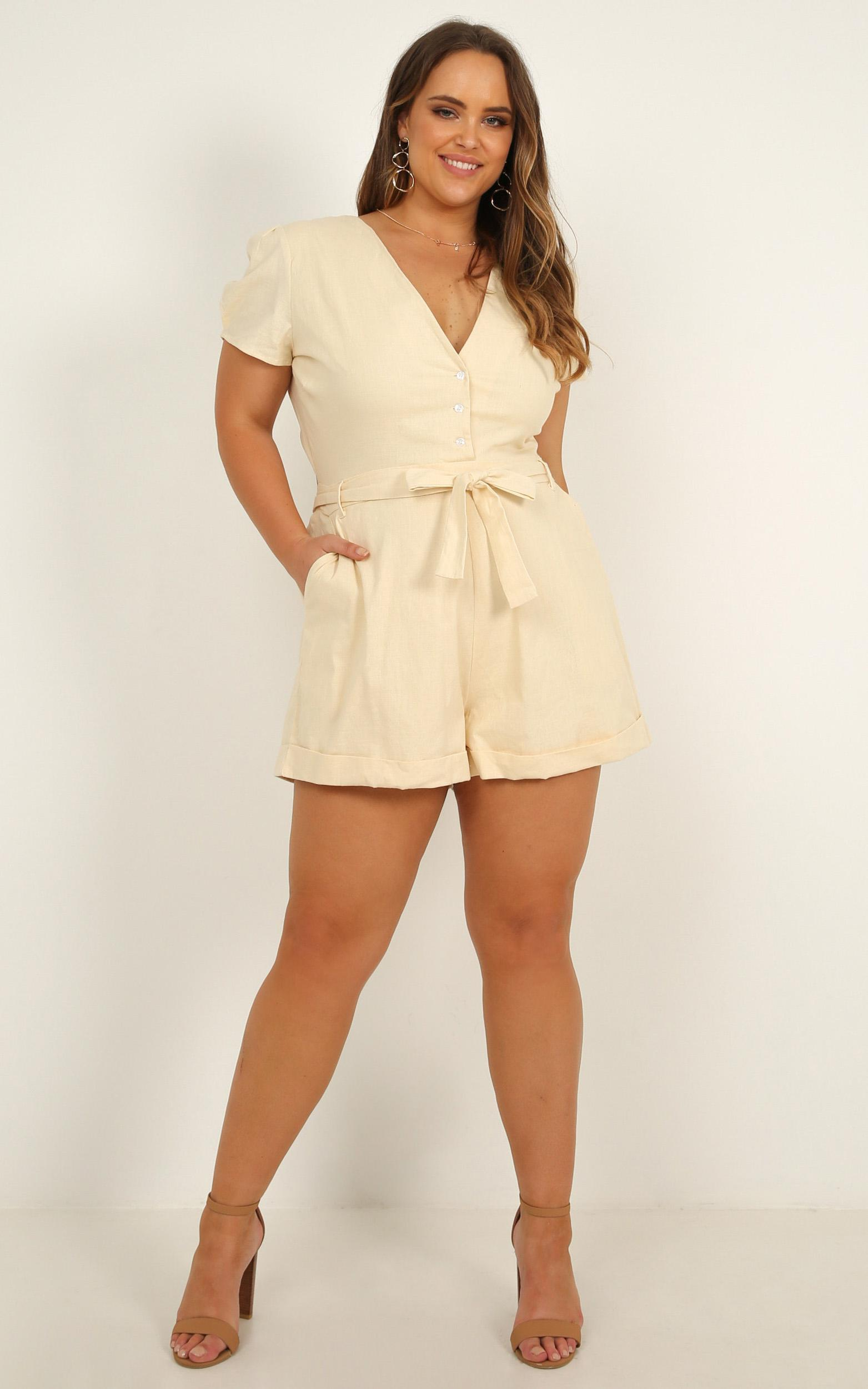 Sundaze playsuit in cream - 20 (XXXXL), Cream, hi-res image number null
