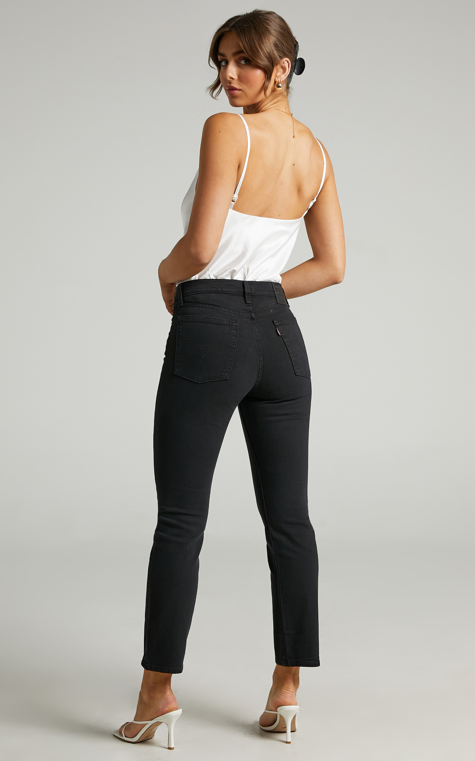 Levis - Wedgie Straight Jean in Black Sprout - 06, BLK1, hi-res image number null