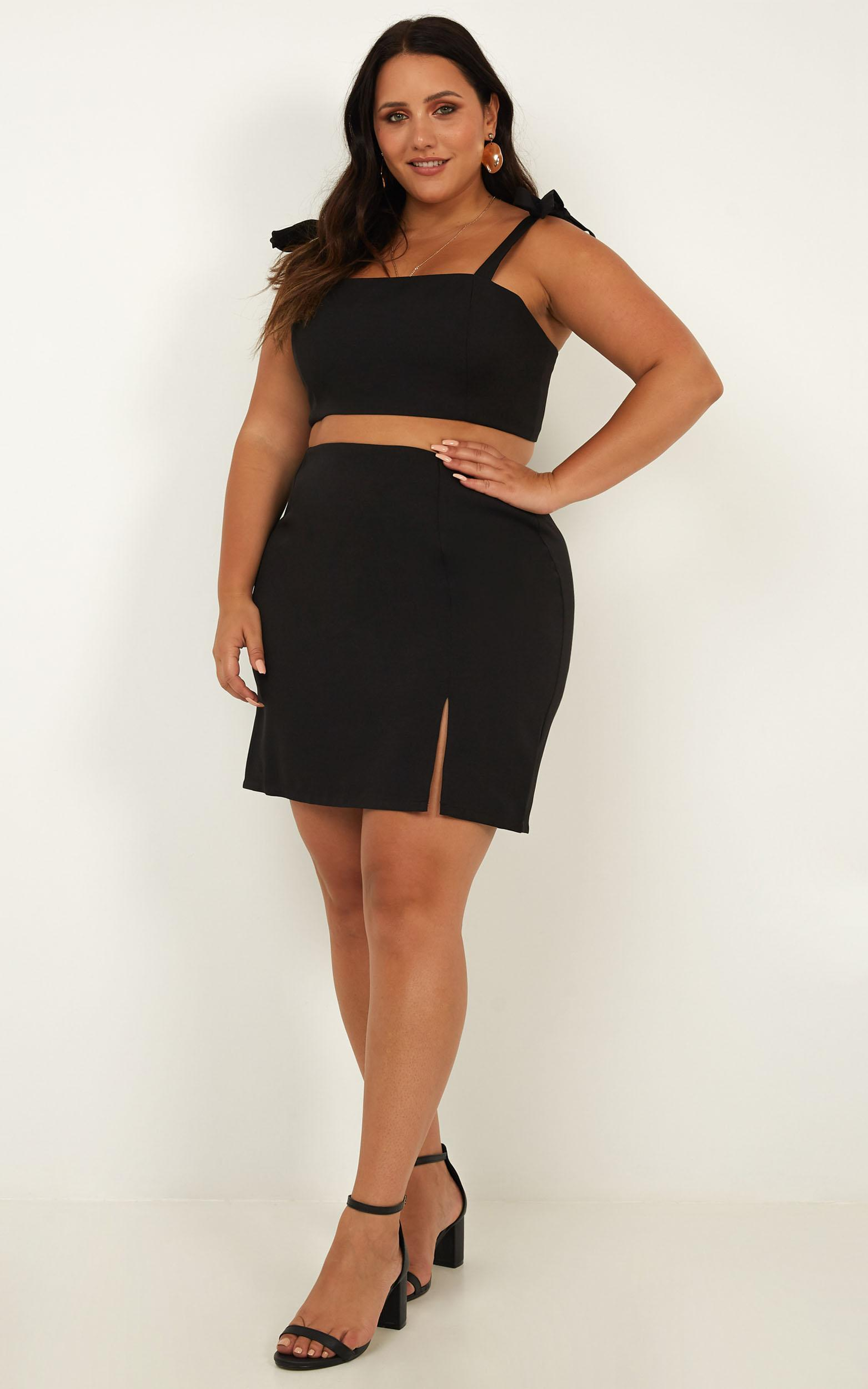 Just Like Fire Two Piece Set in black - 16 (XXL), Black, hi-res image number null