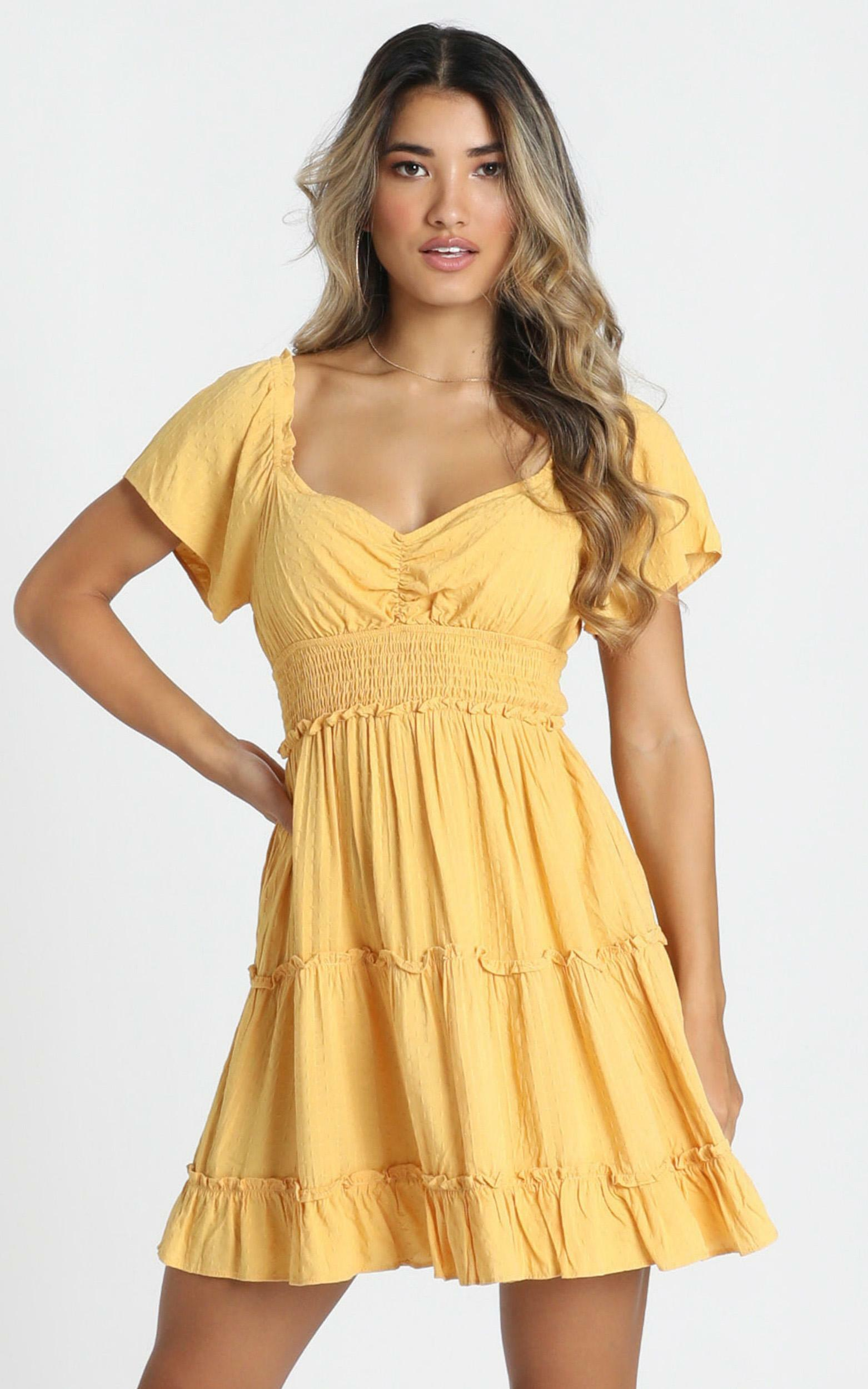 Hearts Content Dress in yellow - 12 (L), Yellow, hi-res image number null