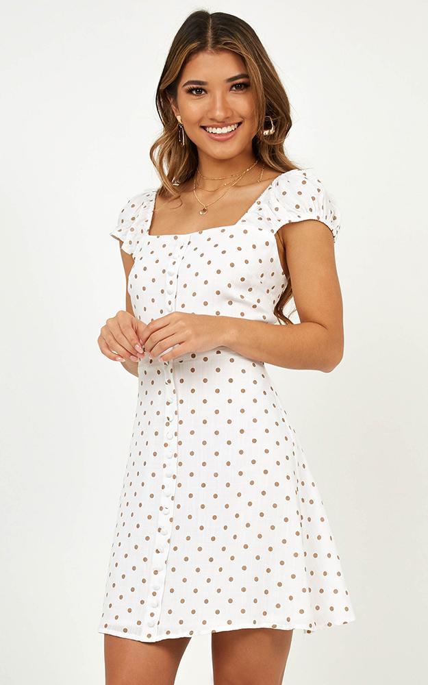 Burning Sun Dress in white spot - 12 (L), White, hi-res image number null