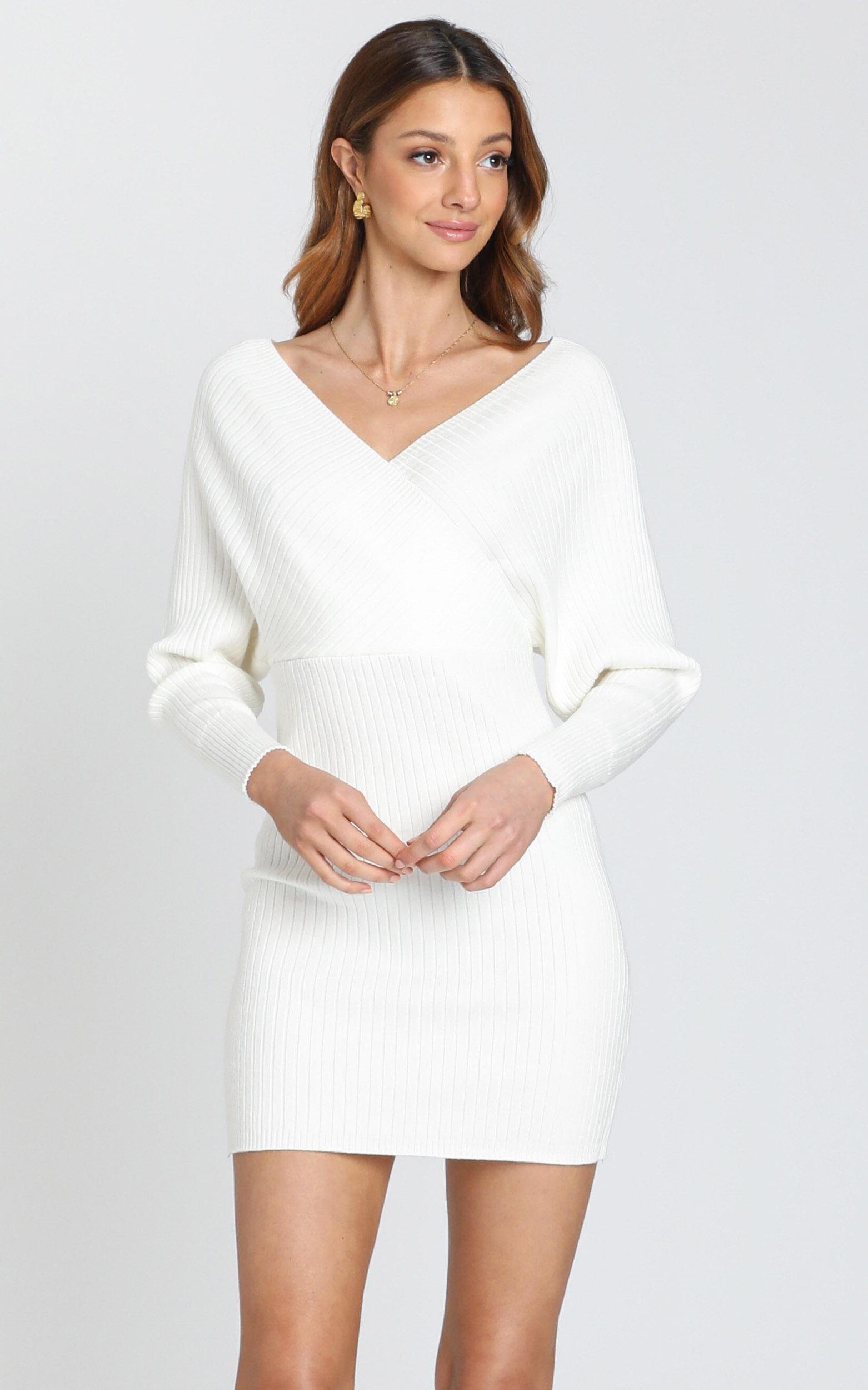 Loretta Dress in White - S, White, hi-res image number null