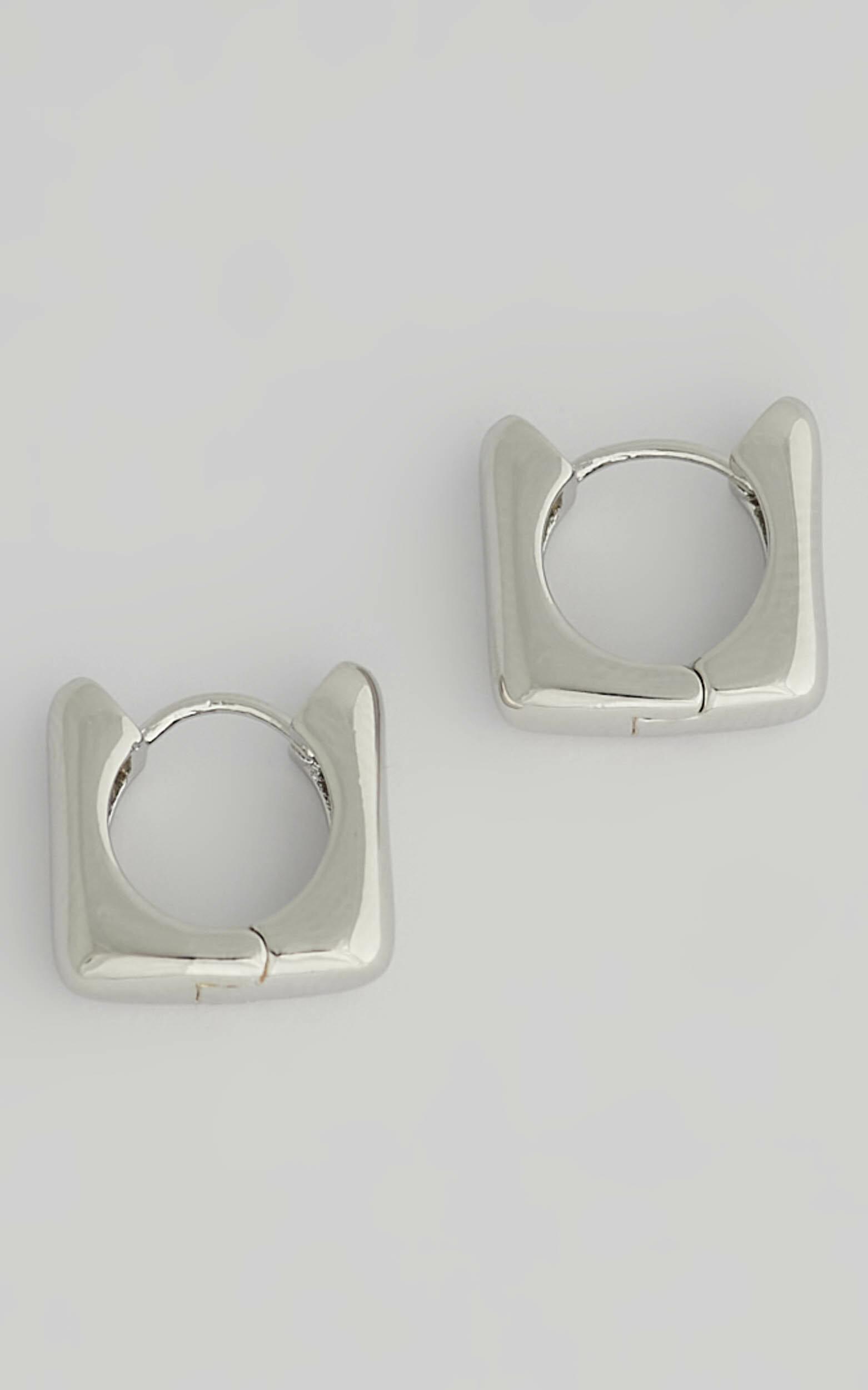 Luv AJ - Art Deco Huggies in Silver - NoSize, SLV1, hi-res image number null