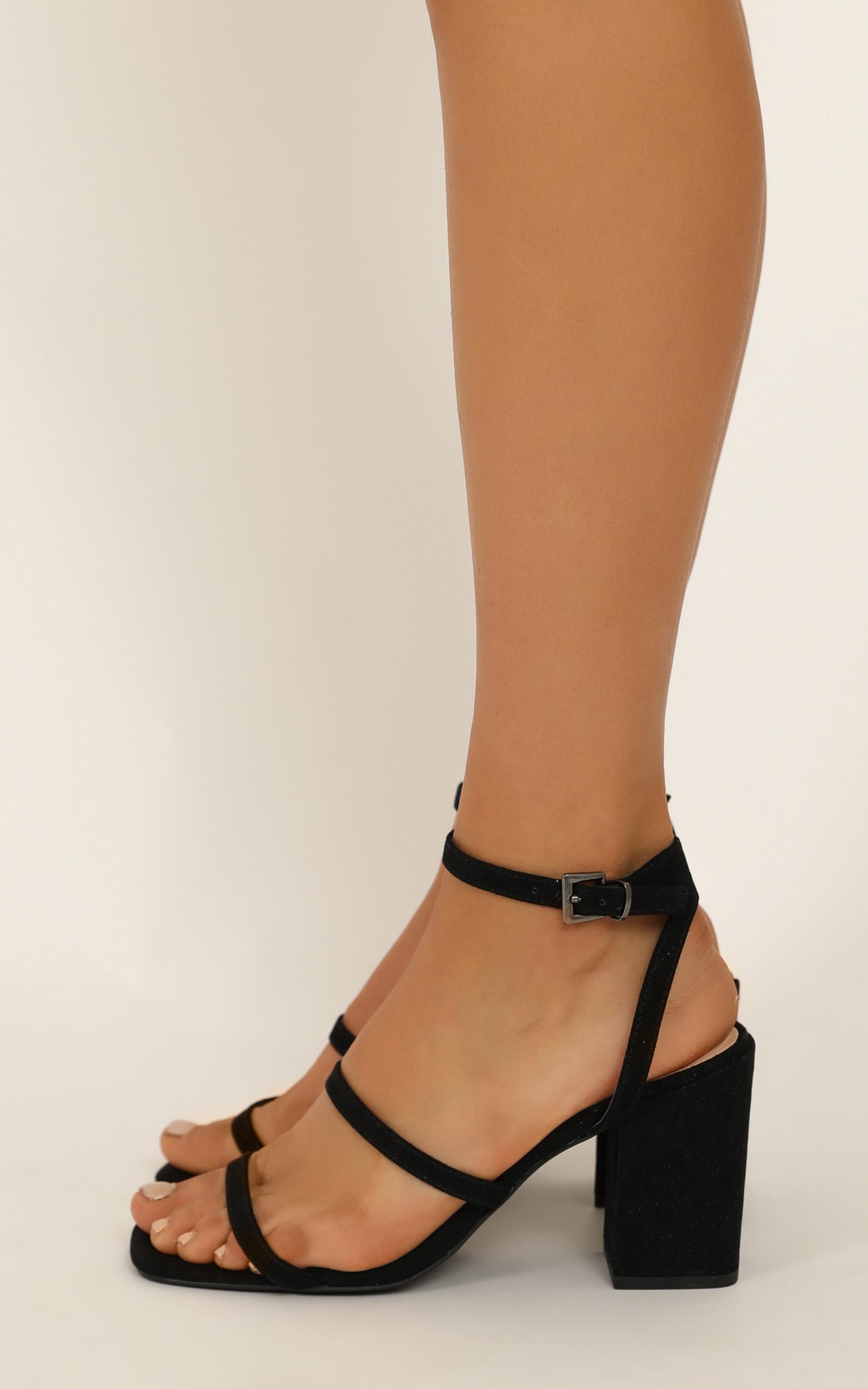Verali - Georgia heels in black micro - 10, Black, hi-res image number null