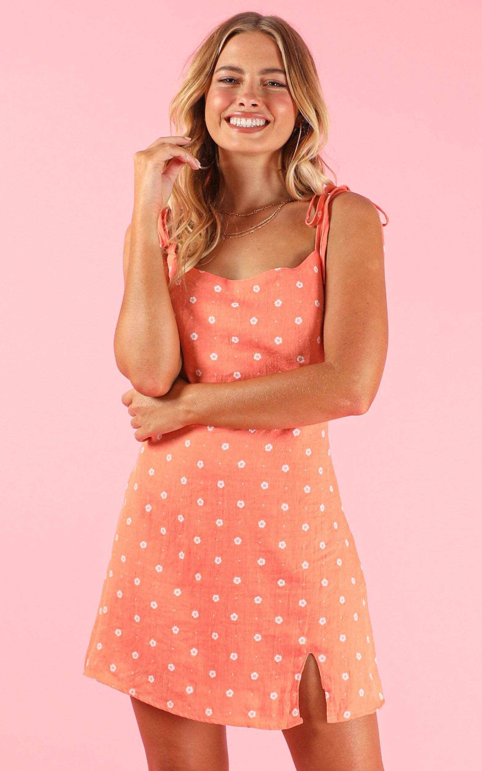 Italian Sunrise dress in apricot - 16 (XXL), Pink, hi-res image number null