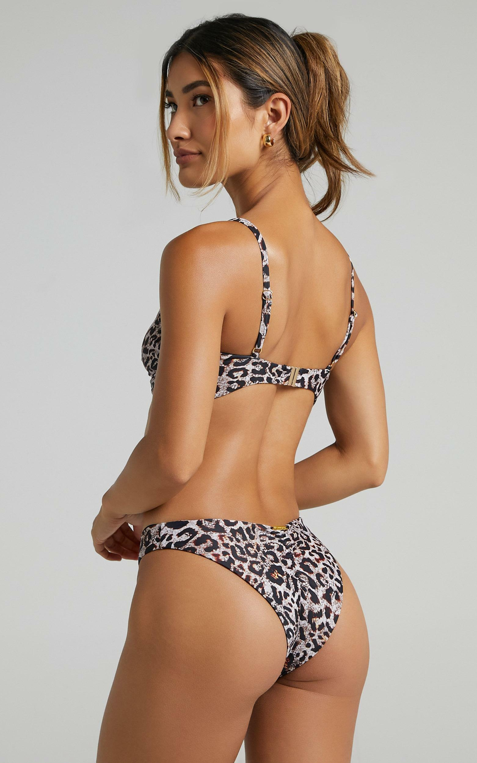 Cassis Bikini Bottoms in Leopard - 6 (XS), Multi, hi-res image number null