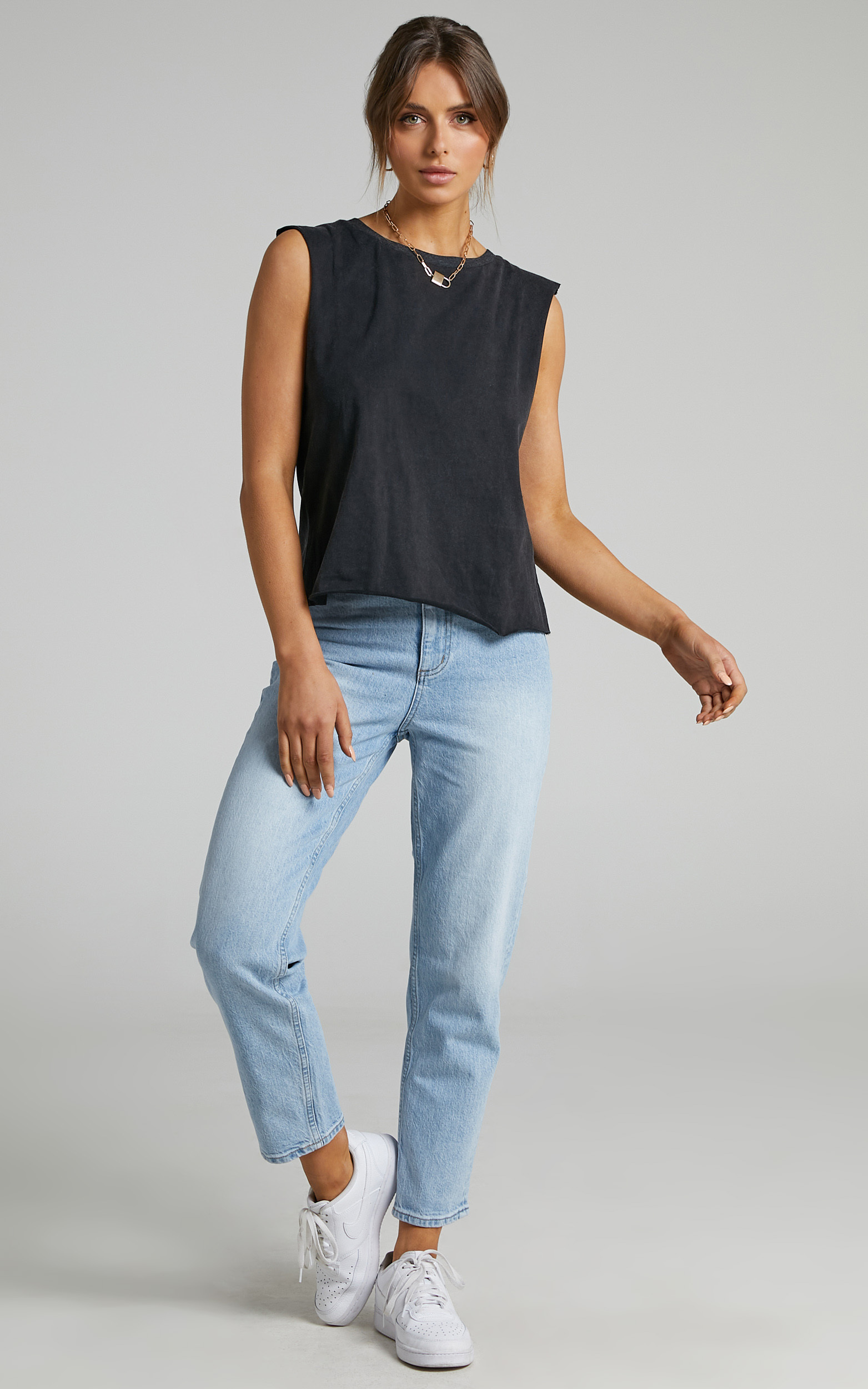 Gia Tee in Washed Black - 06, BLK1, hi-res image number null