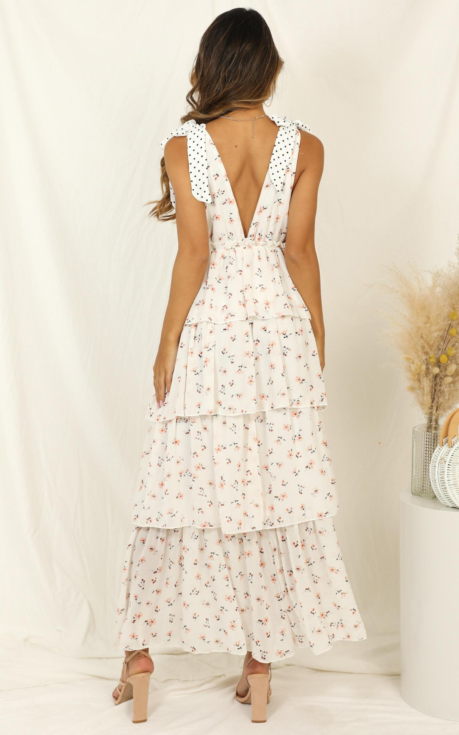 Since You Are Gone Dress in cream floral - 14 (XL), Cream, hi-res image number null