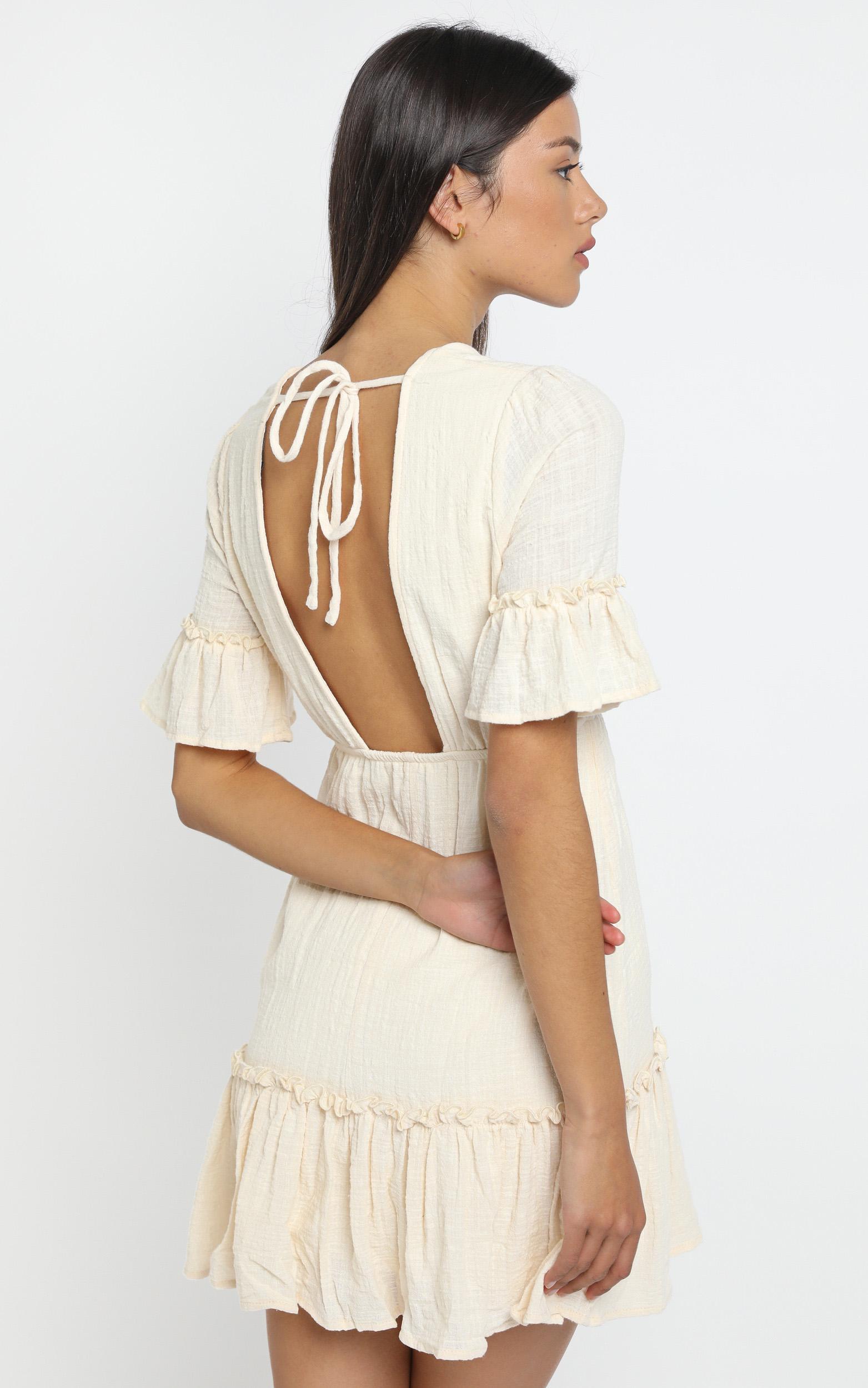 Audrey Dress in Cream - 12 (L), Cream, hi-res image number null