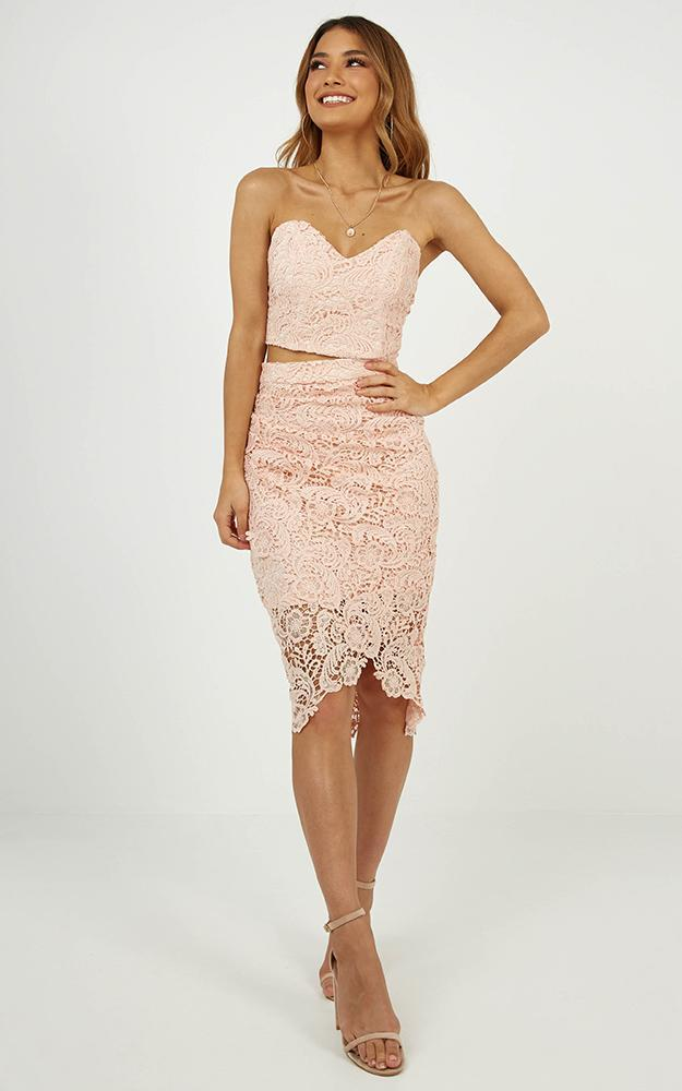 Daliah two piece set in Blush lace - 14 (XL), Blush, hi-res image number null