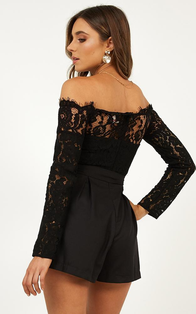 Since Youve Been Gone Playsuit In Black - 20 (XXXXL), Black, hi-res image number null