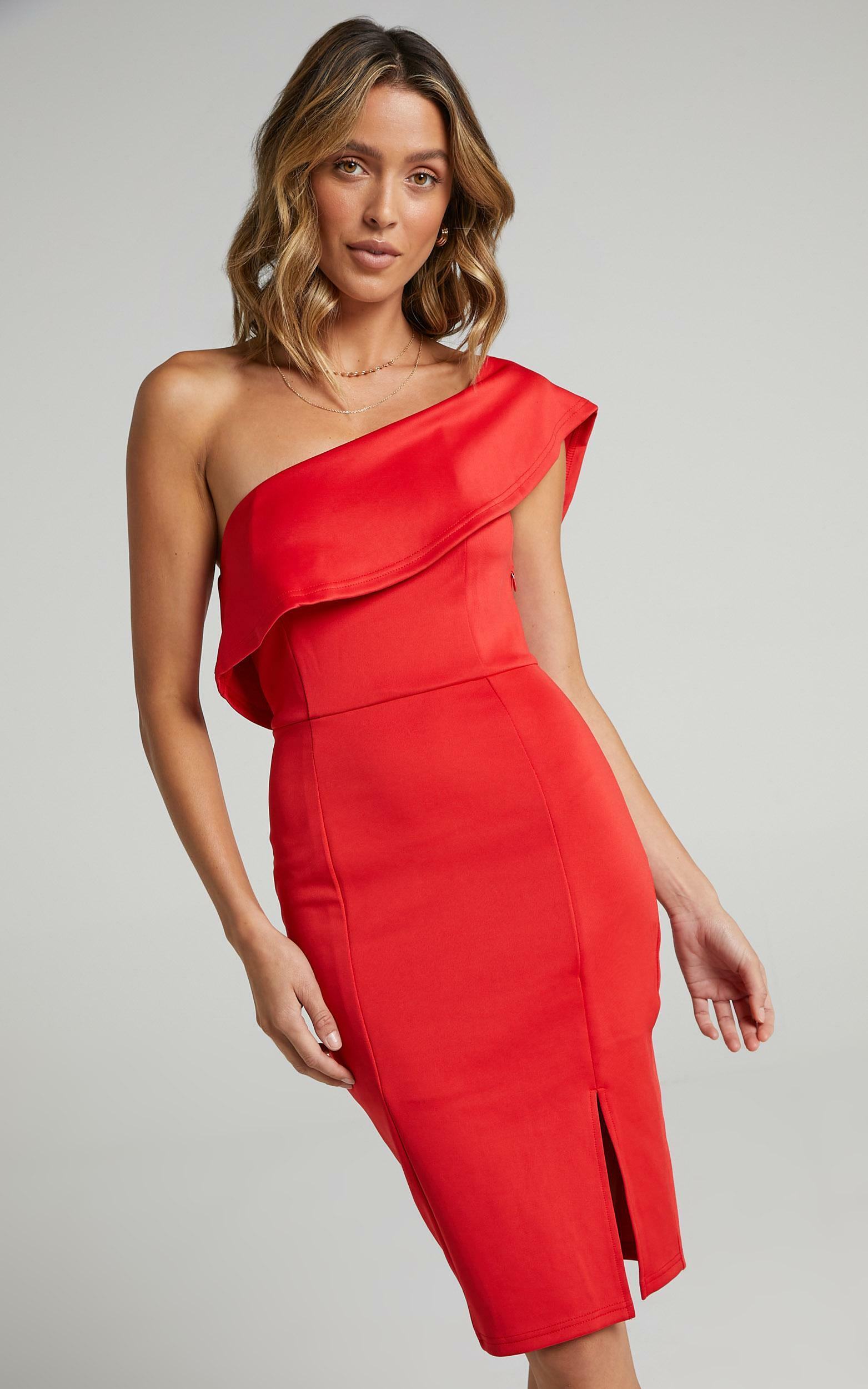 Seven Seas Dress In  Red - 6 (XS), Red, hi-res image number null