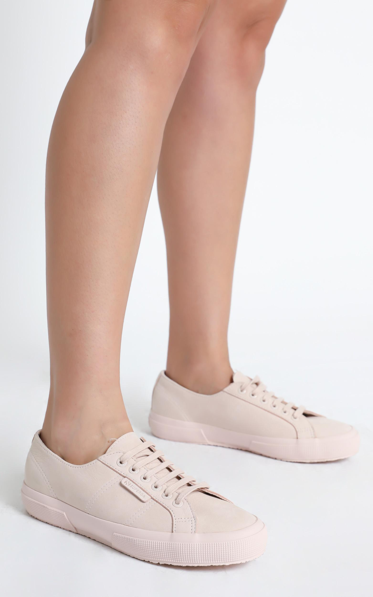 Superga - 2750 Buttersoft Leather Sneaker in tonal pink peach blush - 5, Blush, hi-res image number null