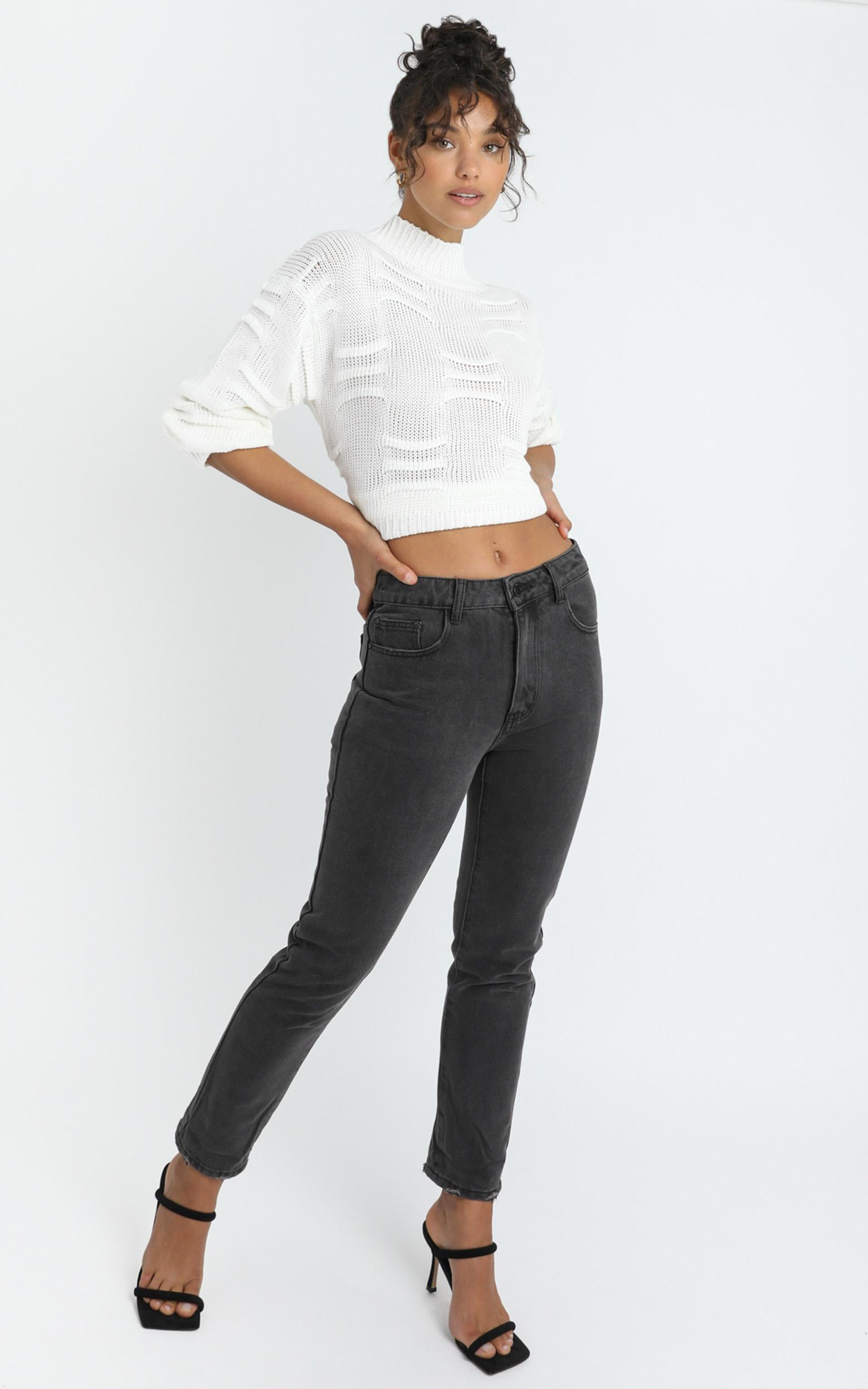 Remy Jeans in washed black denim - 14 (XL), Black, hi-res image number null