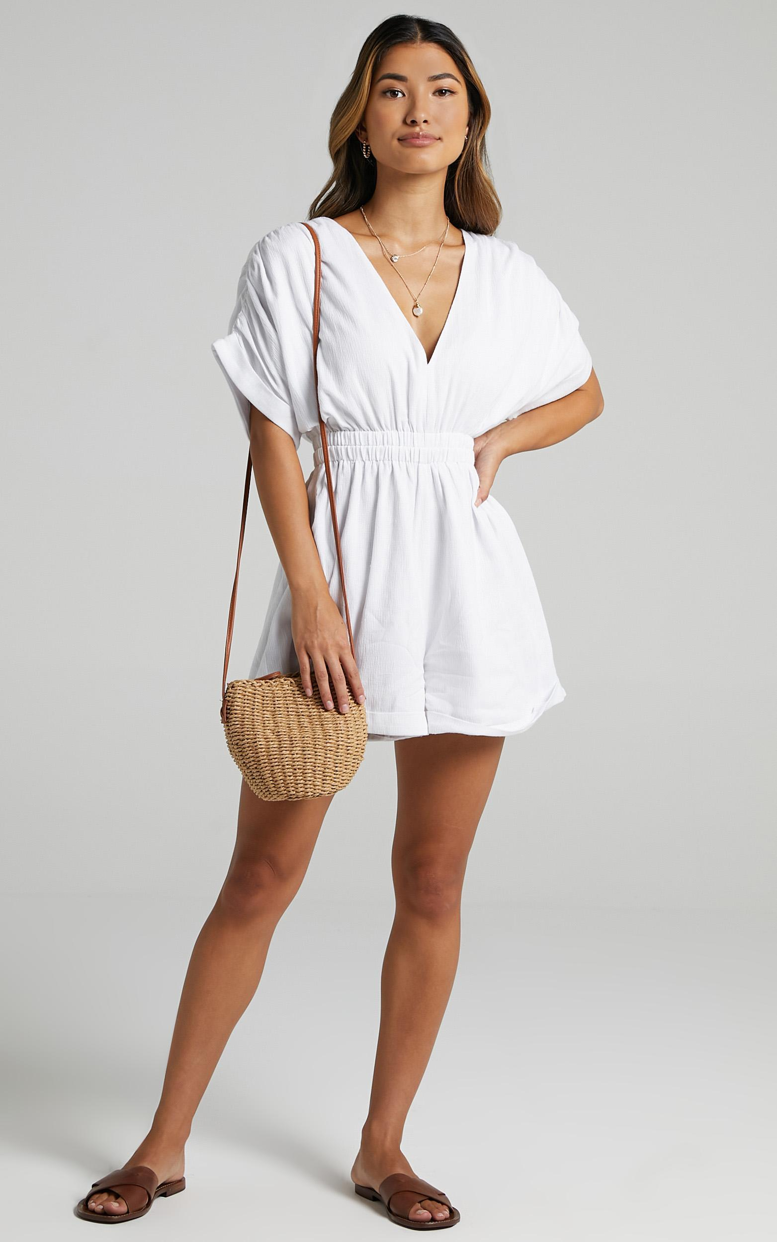 Nexi Playsuit in White - 6 (XS), White, hi-res image number null