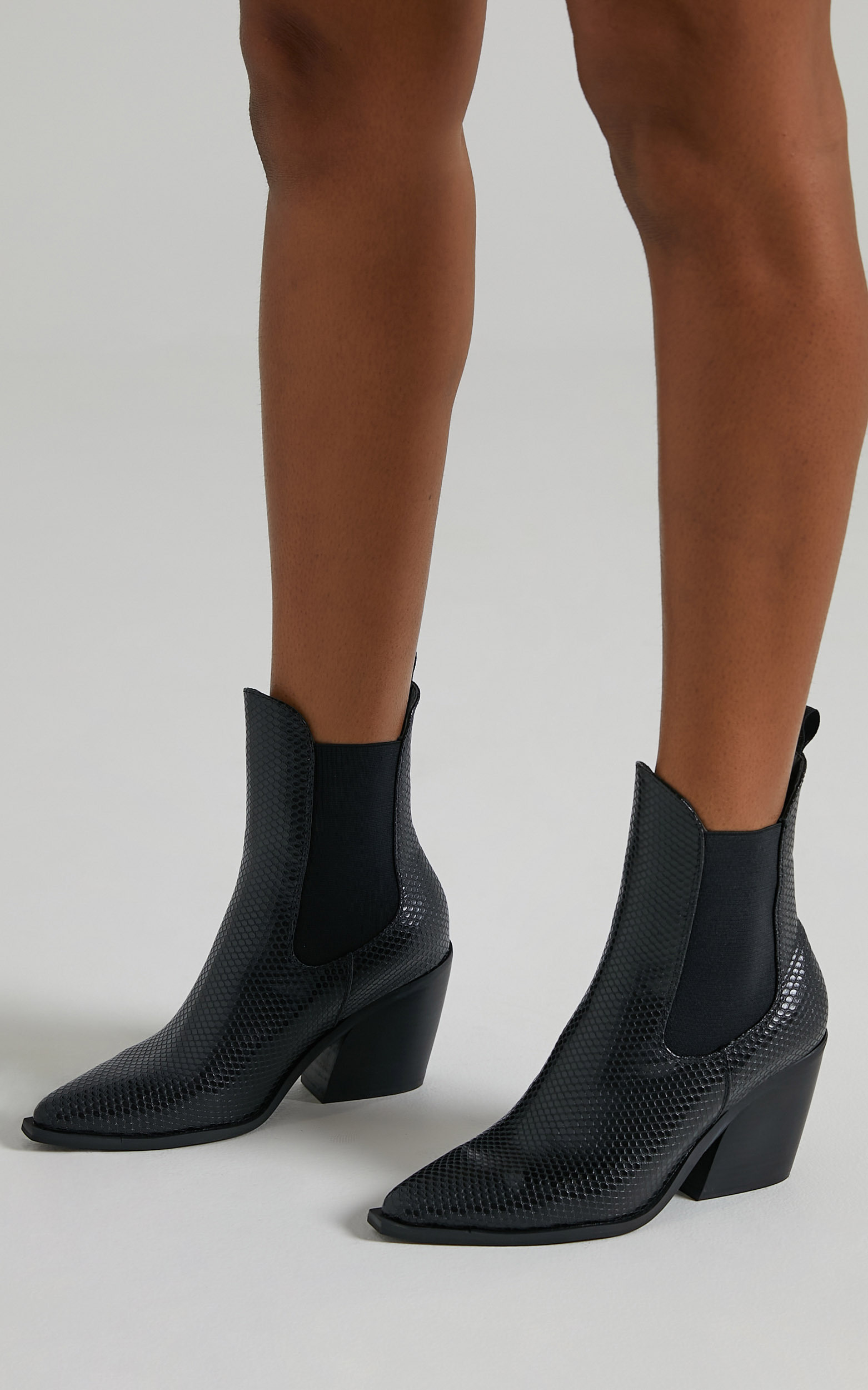 Therapy - Josette Boots in Black Snake - 05, BLK1, hi-res image number null