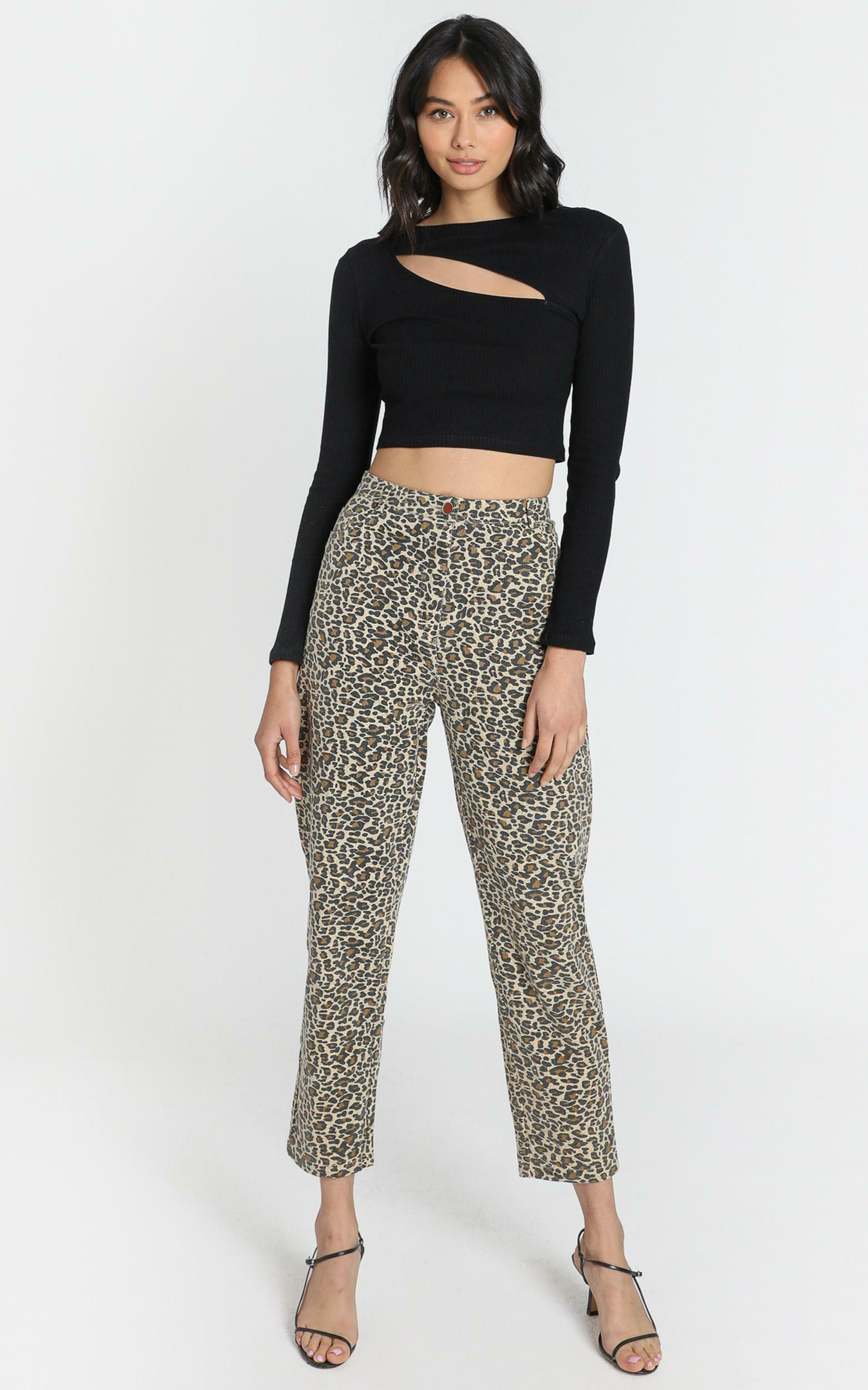 Back it up MOM jeans Leopard - 6 (XS), Brown, hi-res image number null