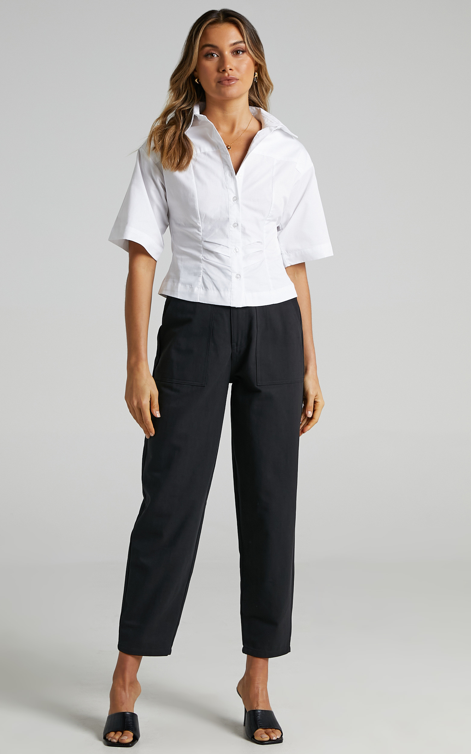 Shireen Shirt in White - 6 (XS), White, hi-res image number null