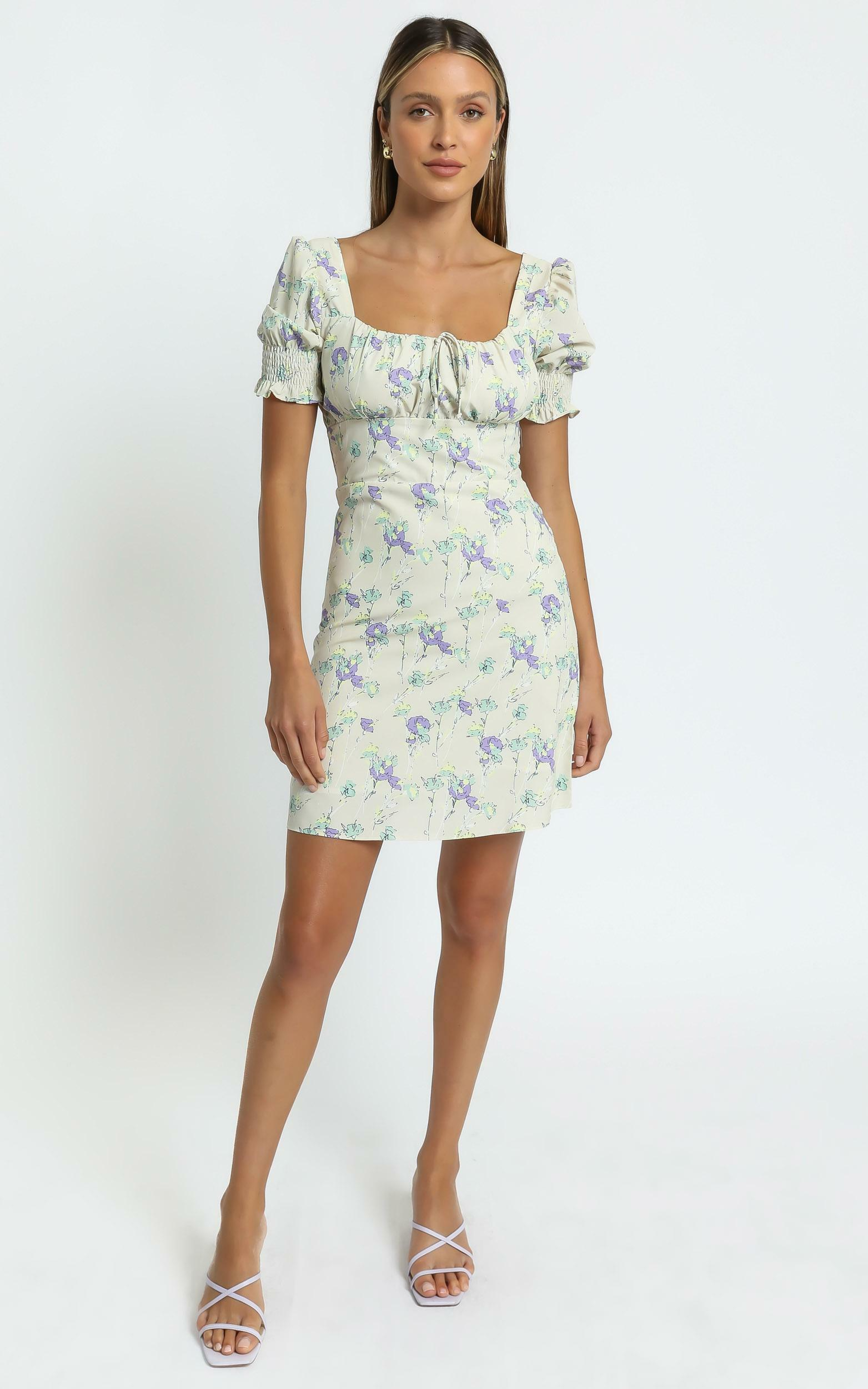 Sierra Dress in Yellow Floral - 8 (S), Yellow, hi-res image number null