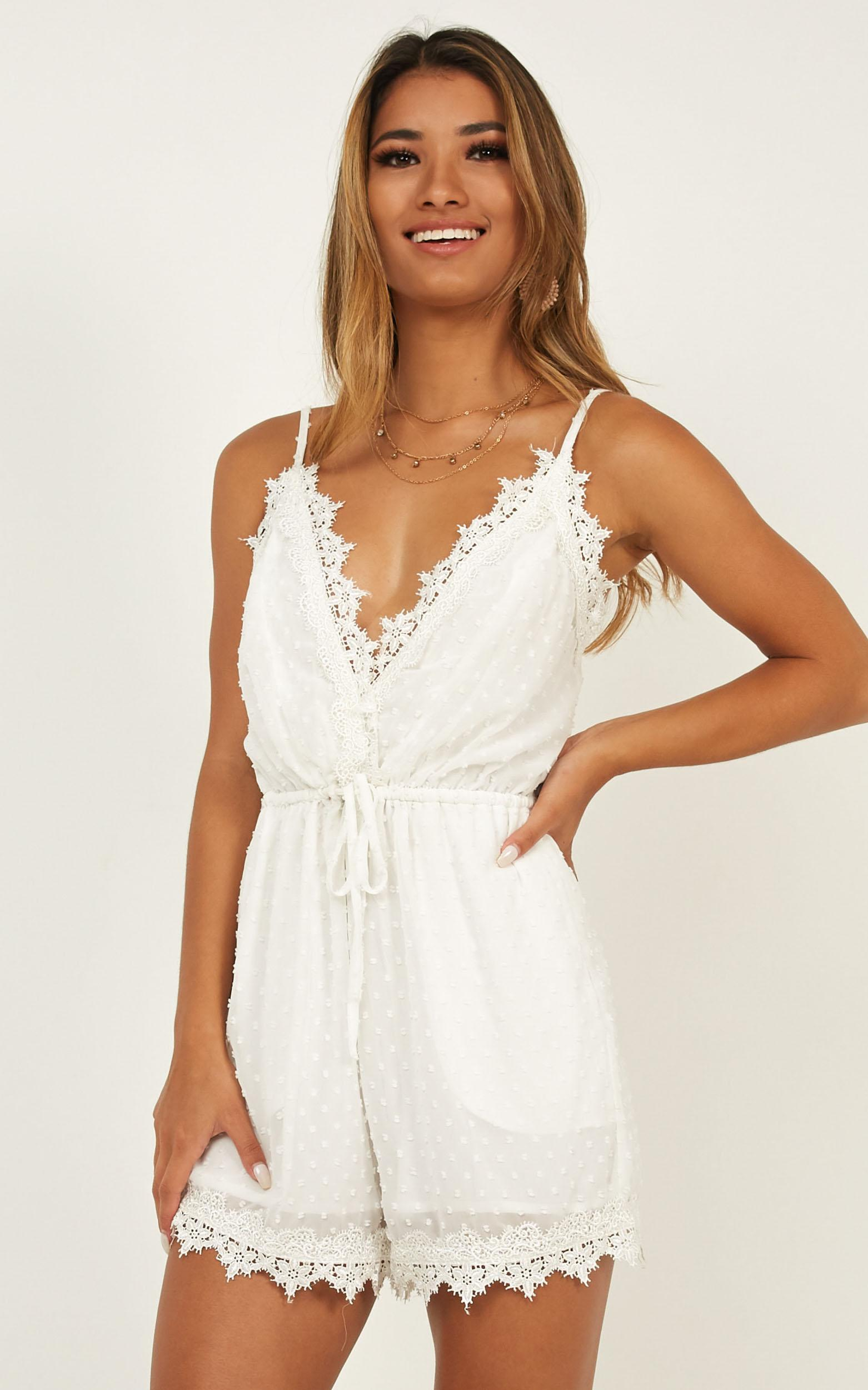 Almost Home Playsuit in white - 20 (XXXXL), White, hi-res image number null